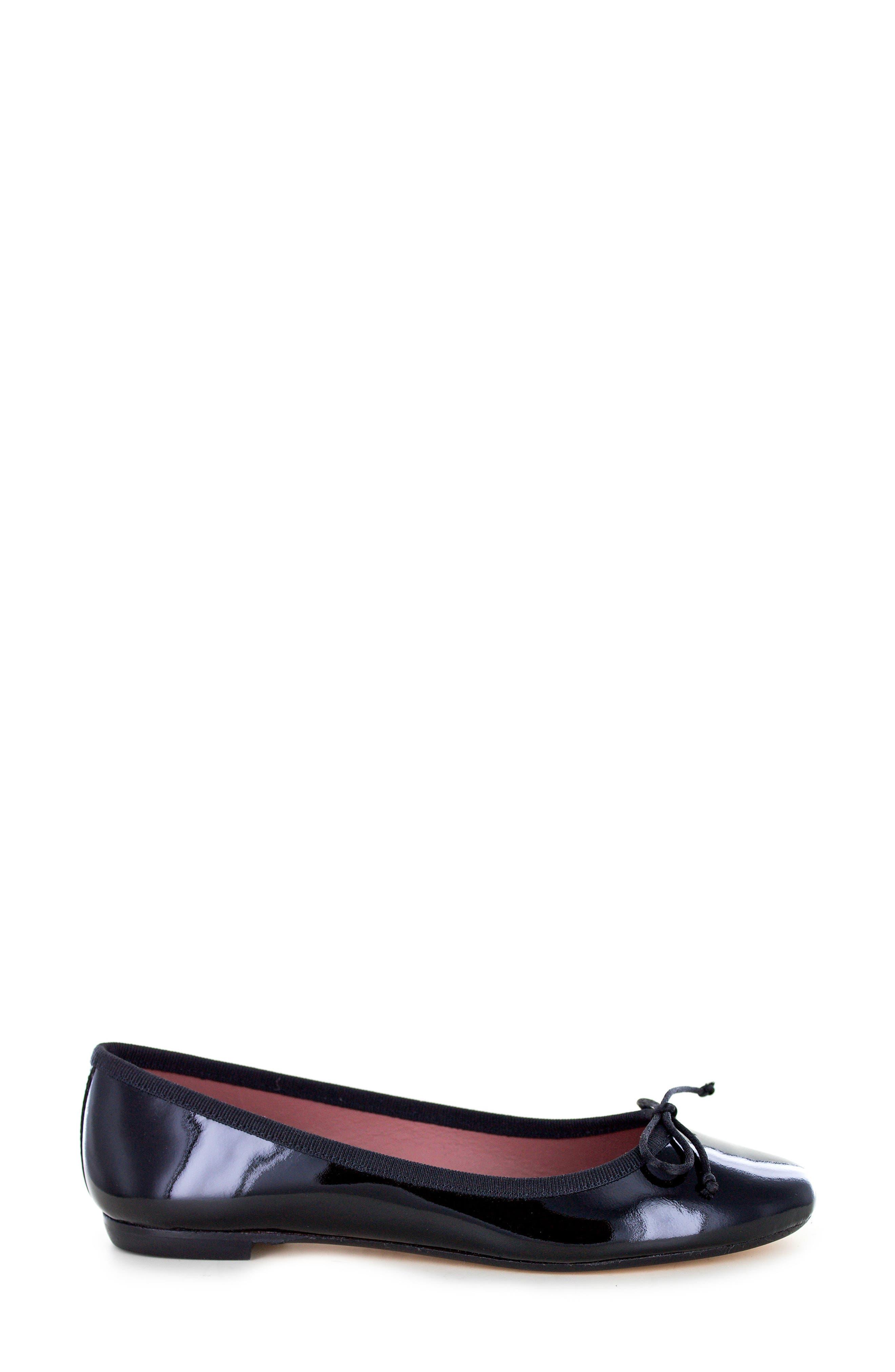 Kendrick Flat,                             Alternate thumbnail 3, color,                             Black Patent Leather