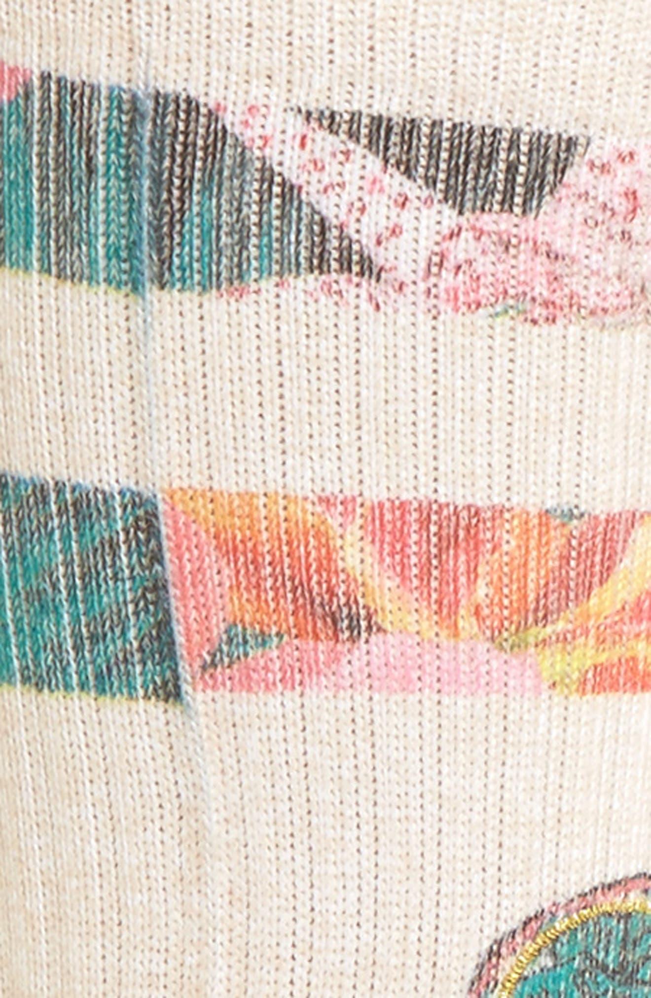 Lovebird Crew Socks,                             Alternate thumbnail 3, color,                             Natural