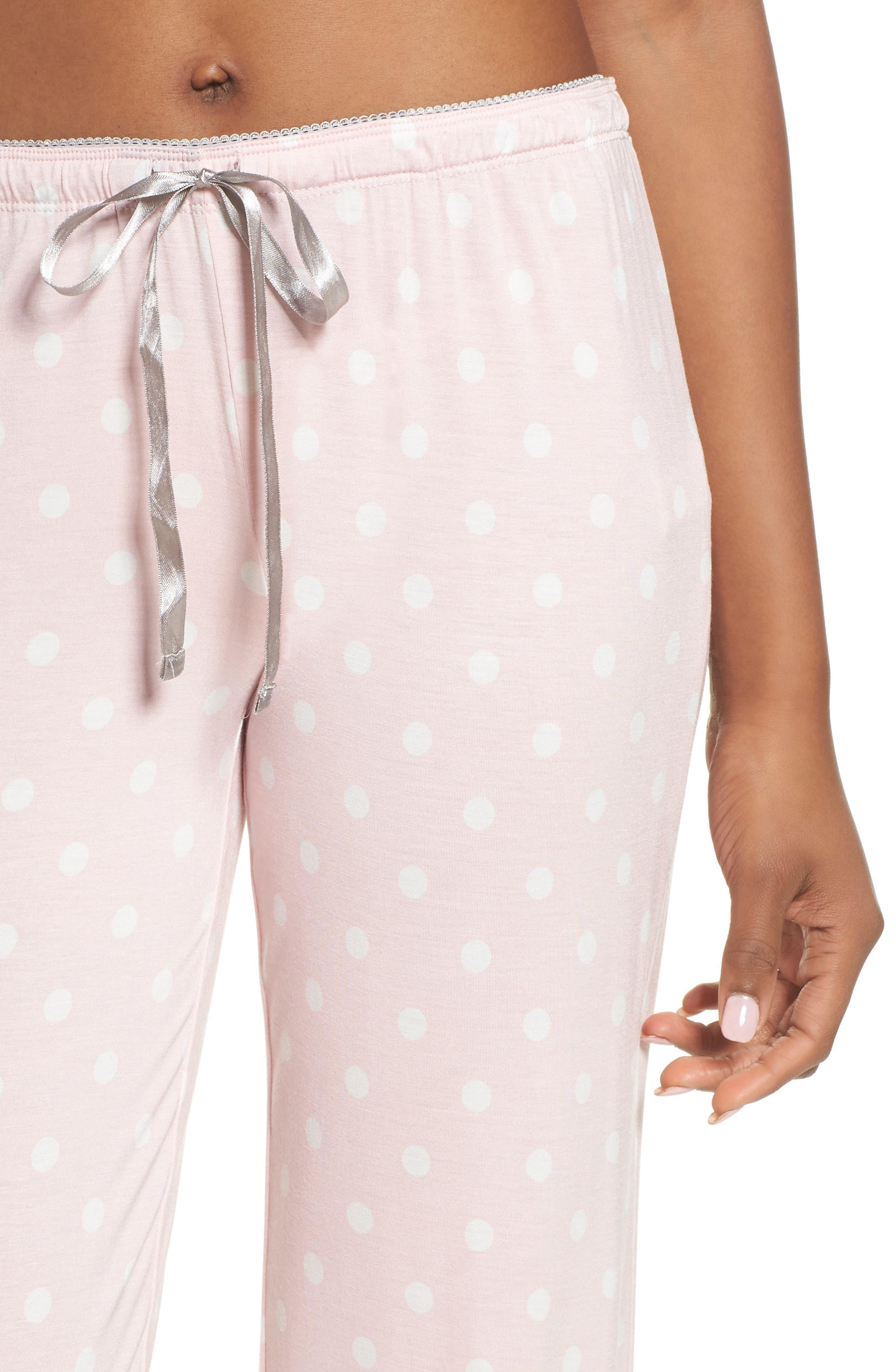 Drawstring Pajama Pants,                             Alternate thumbnail 4, color,                             Pink