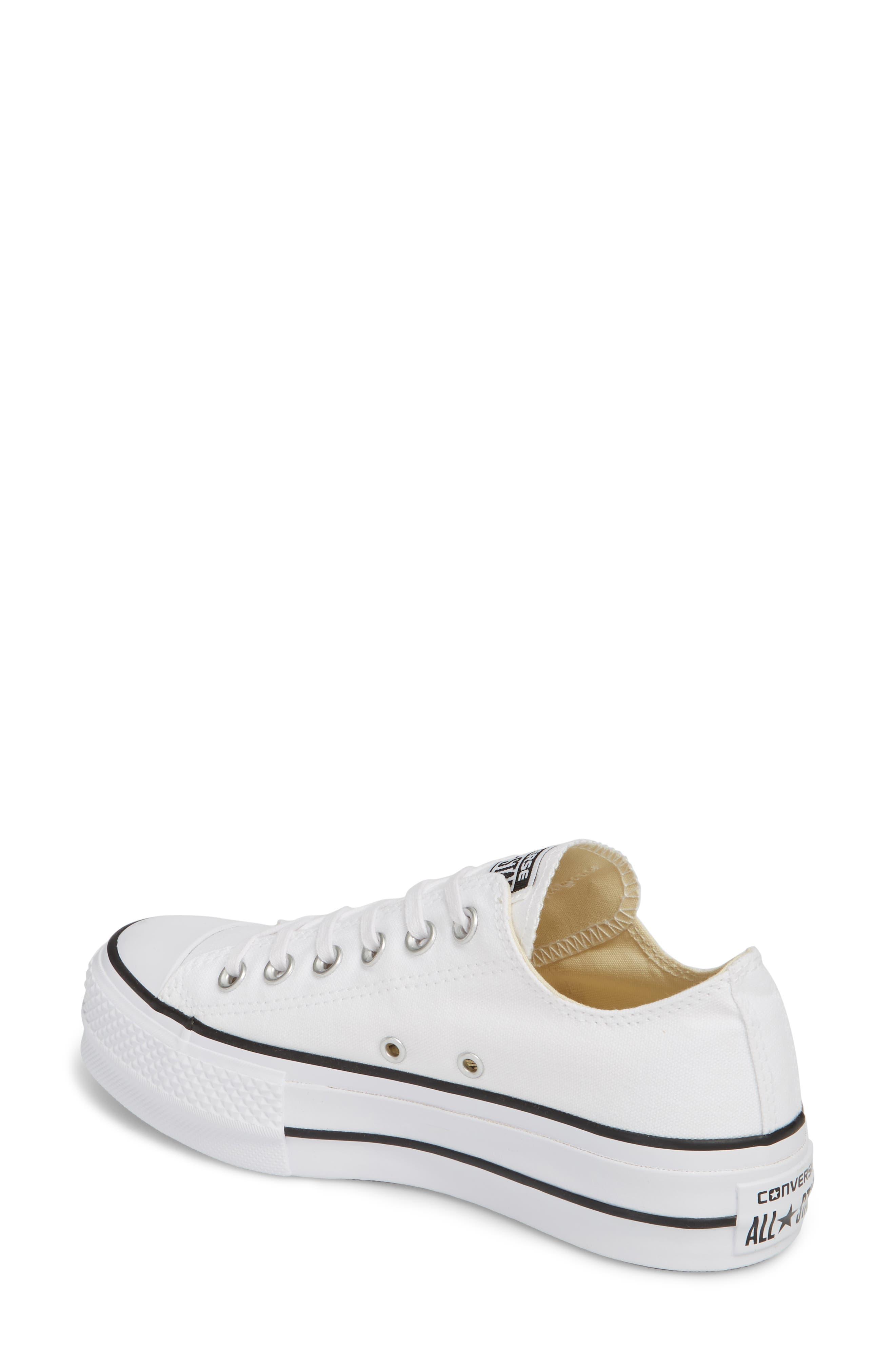 Chuck Taylor<sup>®</sup> All Star<sup>®</sup> Platform Sneaker,                             Alternate thumbnail 2, color,                             White/ Black/ White