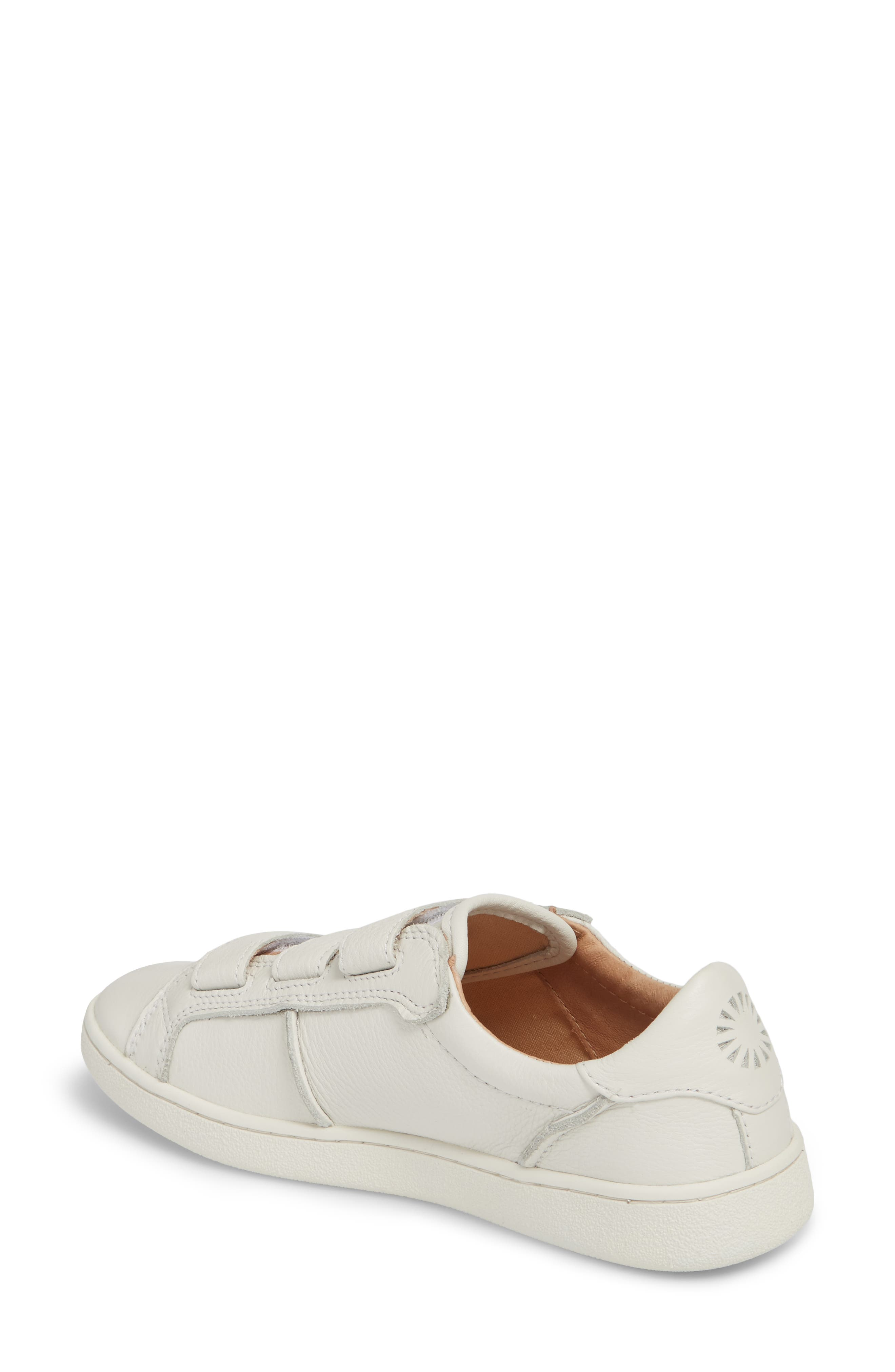 Alix Sneaker,                             Alternate thumbnail 2, color,                             White Leather