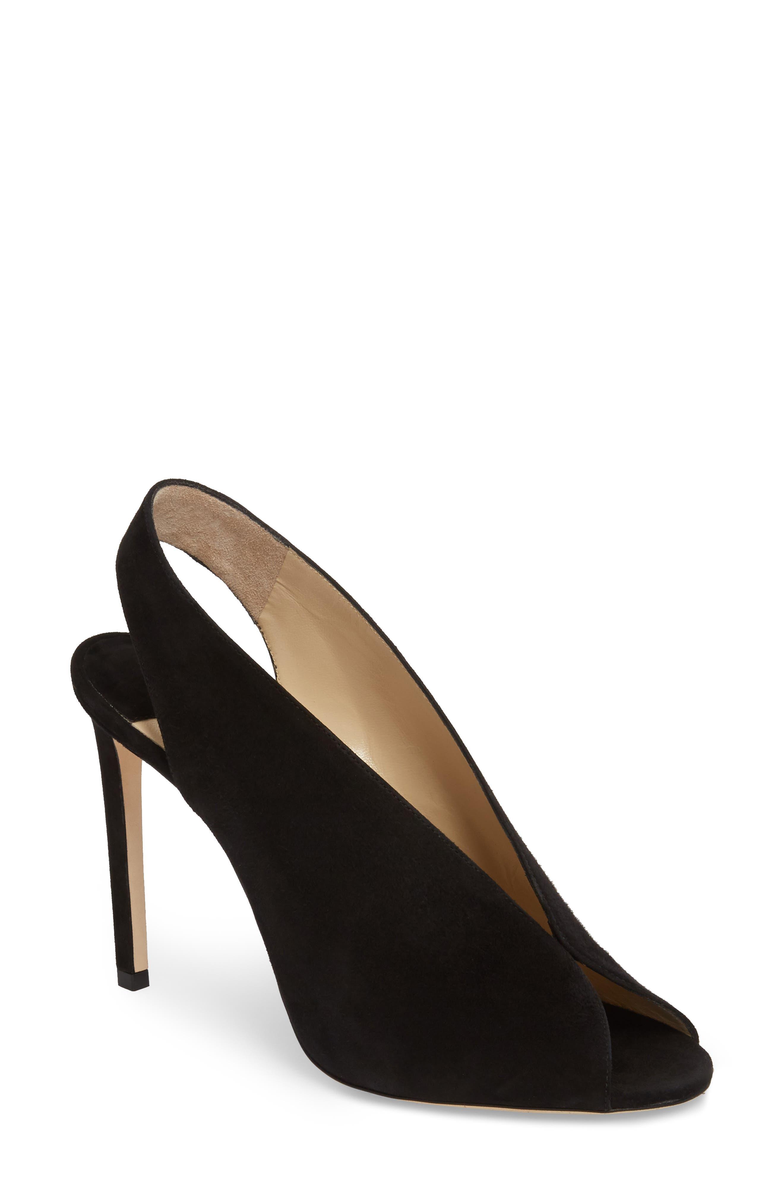 Shar Peep Toe Slingback Pump,                         Main,                         color, Black