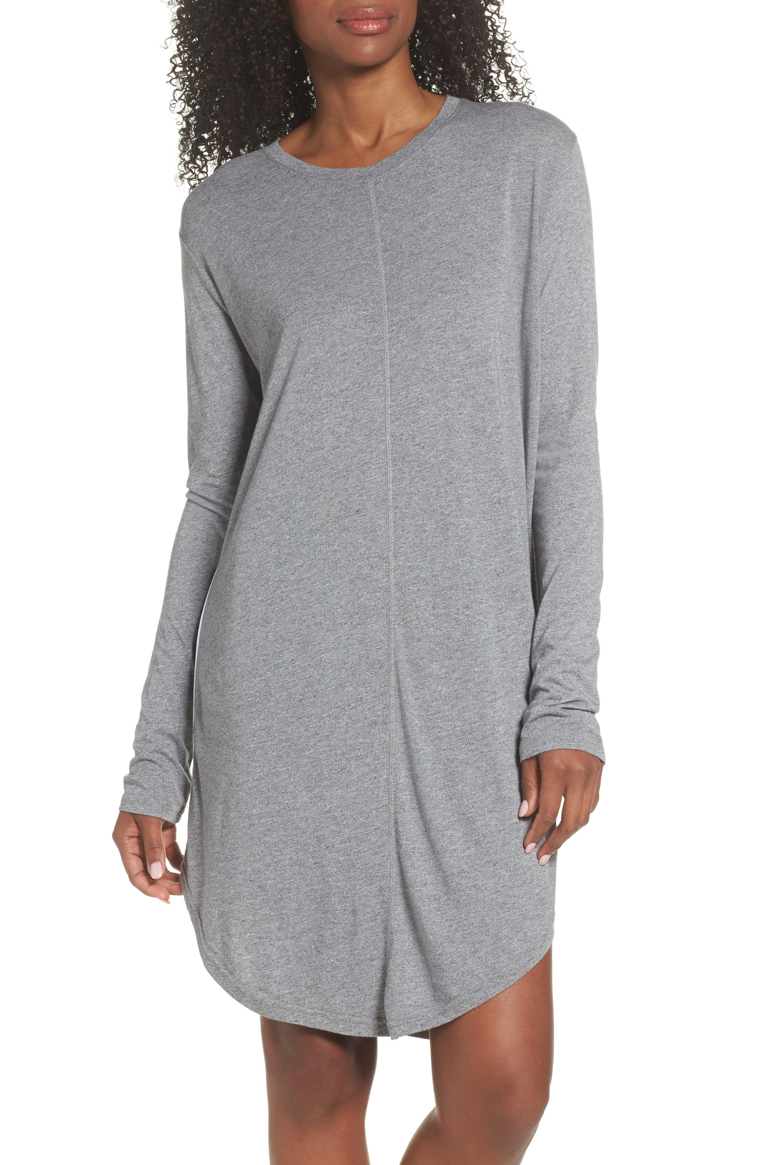 Wednesday Sleep Shirt,                         Main,                         color, Ash Marle