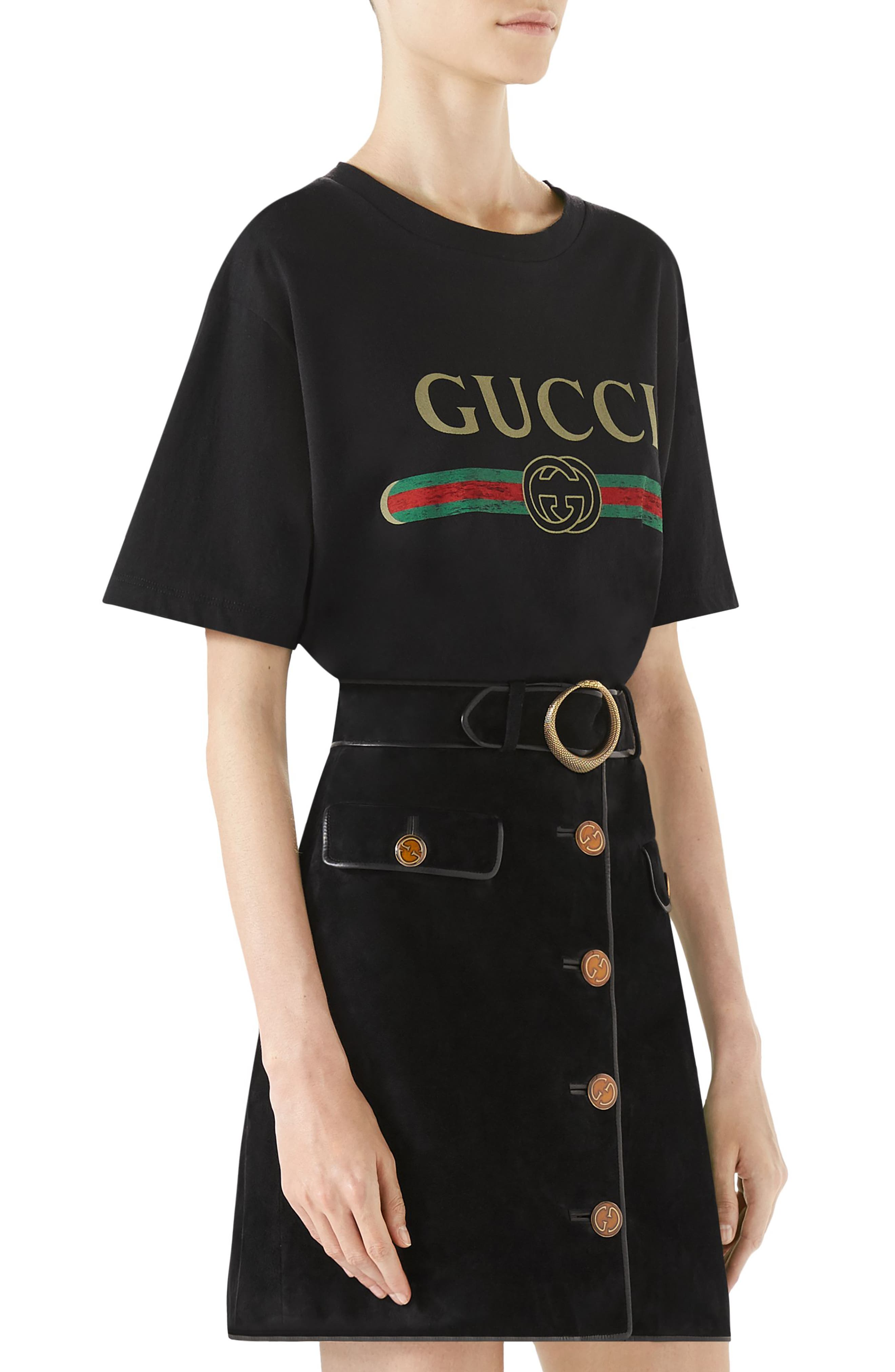 Alternate Image 3  - Gucci Suede Button Front Skirt