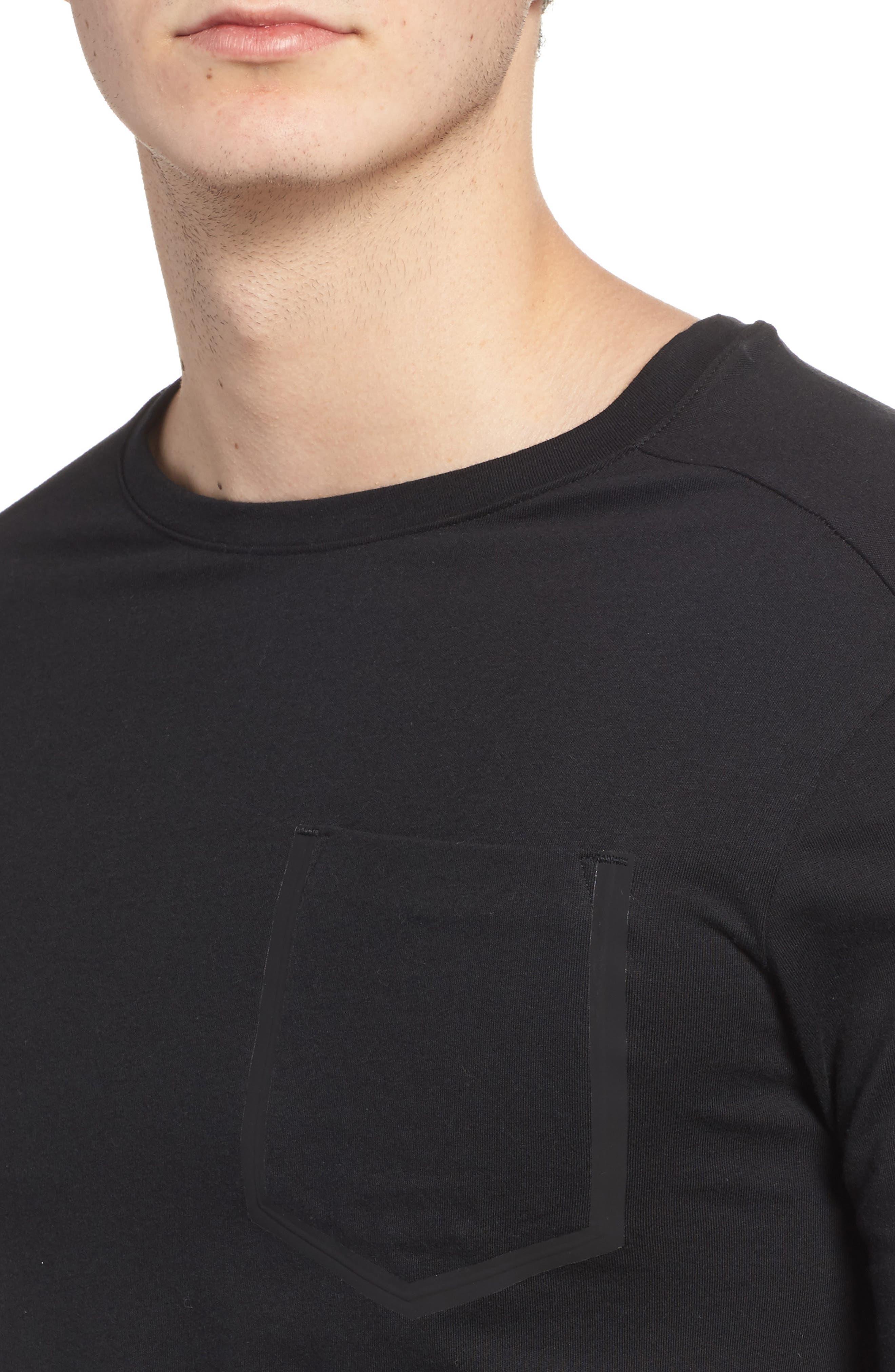 Training Supply Move Crewneck T-Shirt,                             Alternate thumbnail 4, color,                             Black