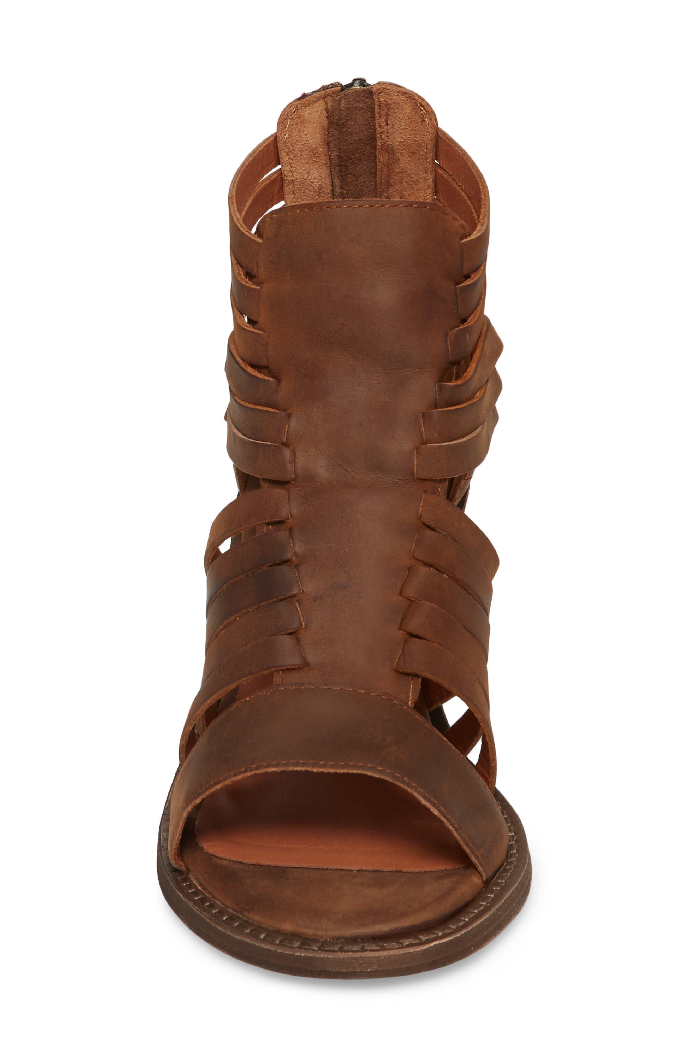 Felice Sandal,                             Alternate thumbnail 4, color,                             Brown Leather