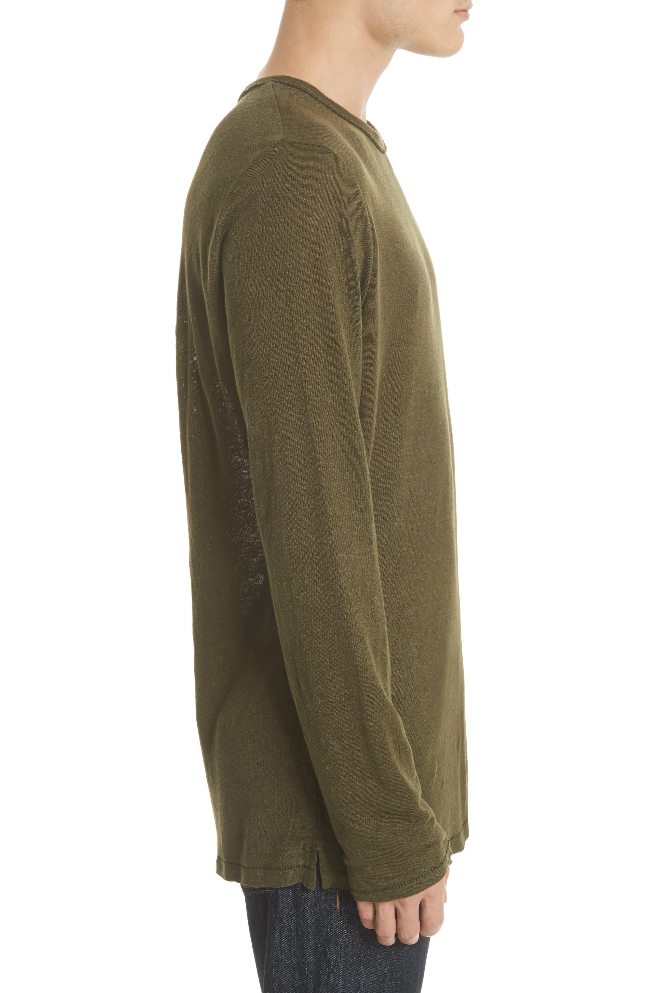 Owen Long Sleeve T-Shirt,                             Alternate thumbnail 3, color,                             Army