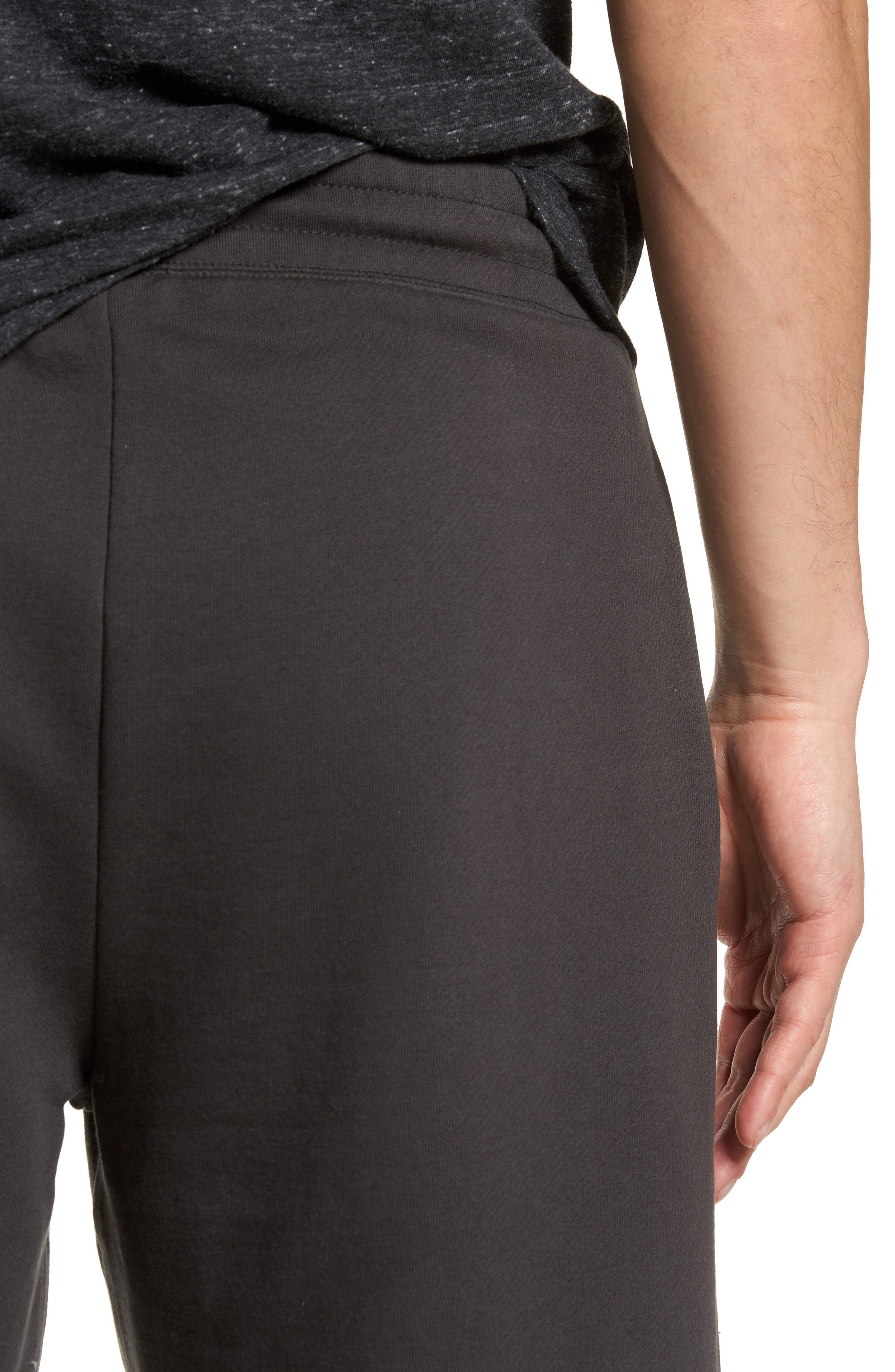 Marty Fleece Shorts,                             Alternate thumbnail 4, color,                             Pirate Black