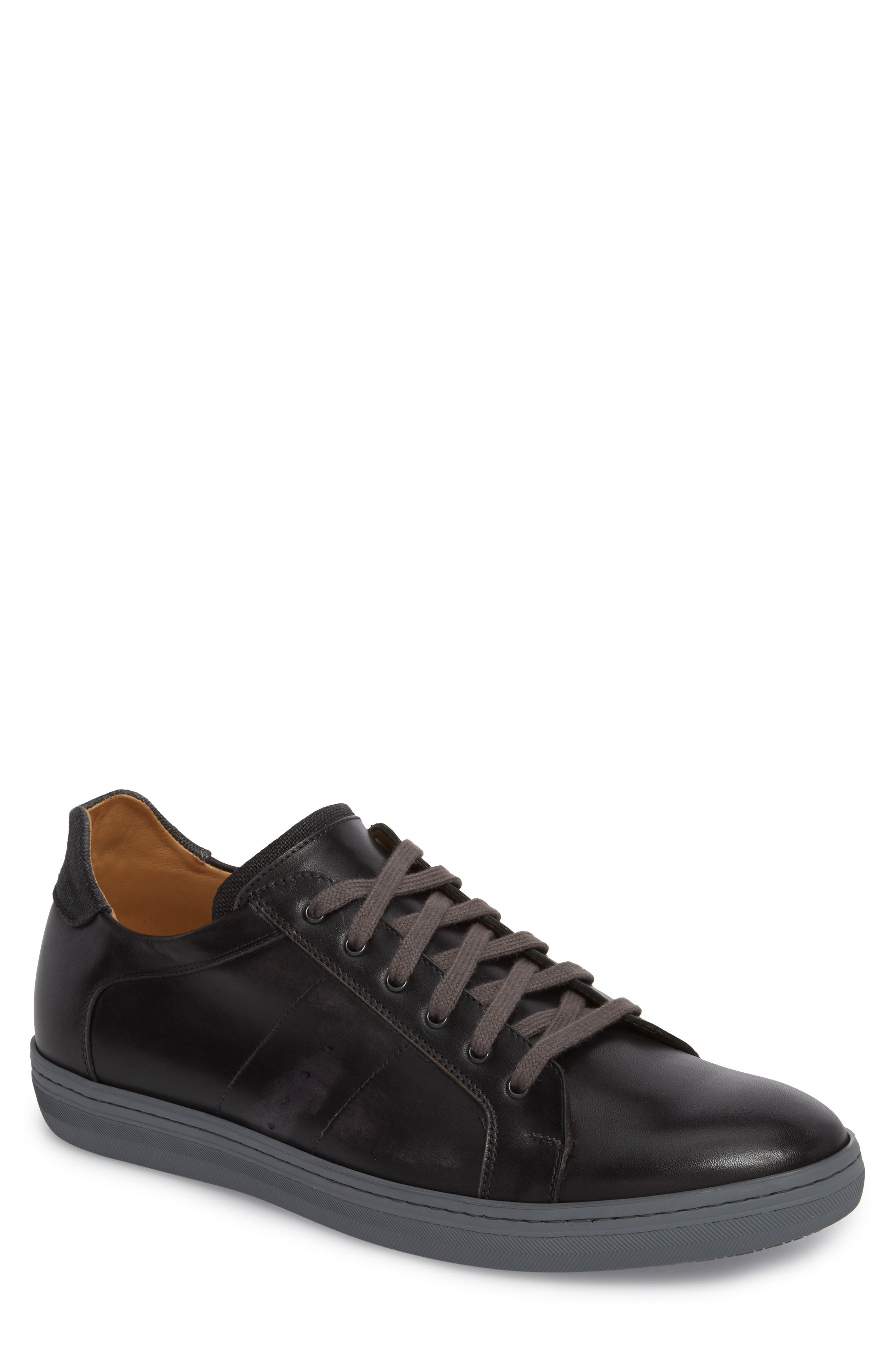 Cuzco Sneaker in Graphite/ Black Leather