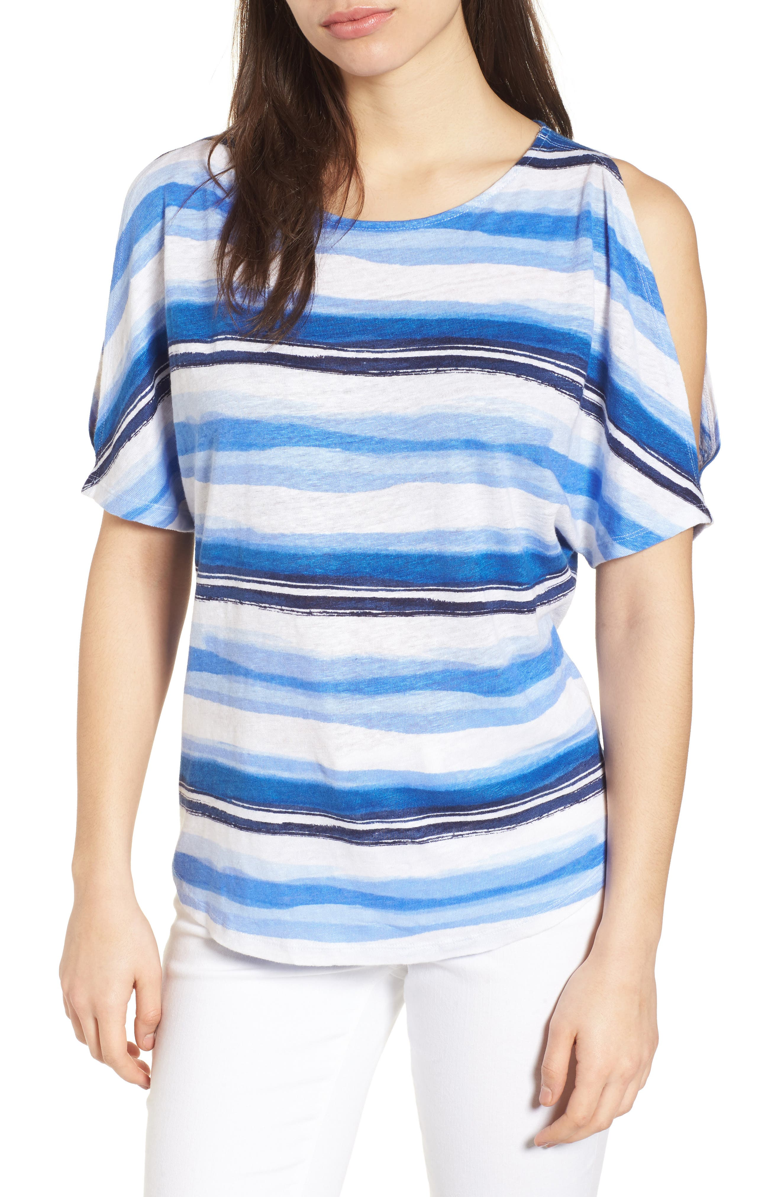 Tommy Bahama Hazy Horizons Cold Shoulder Linen Top