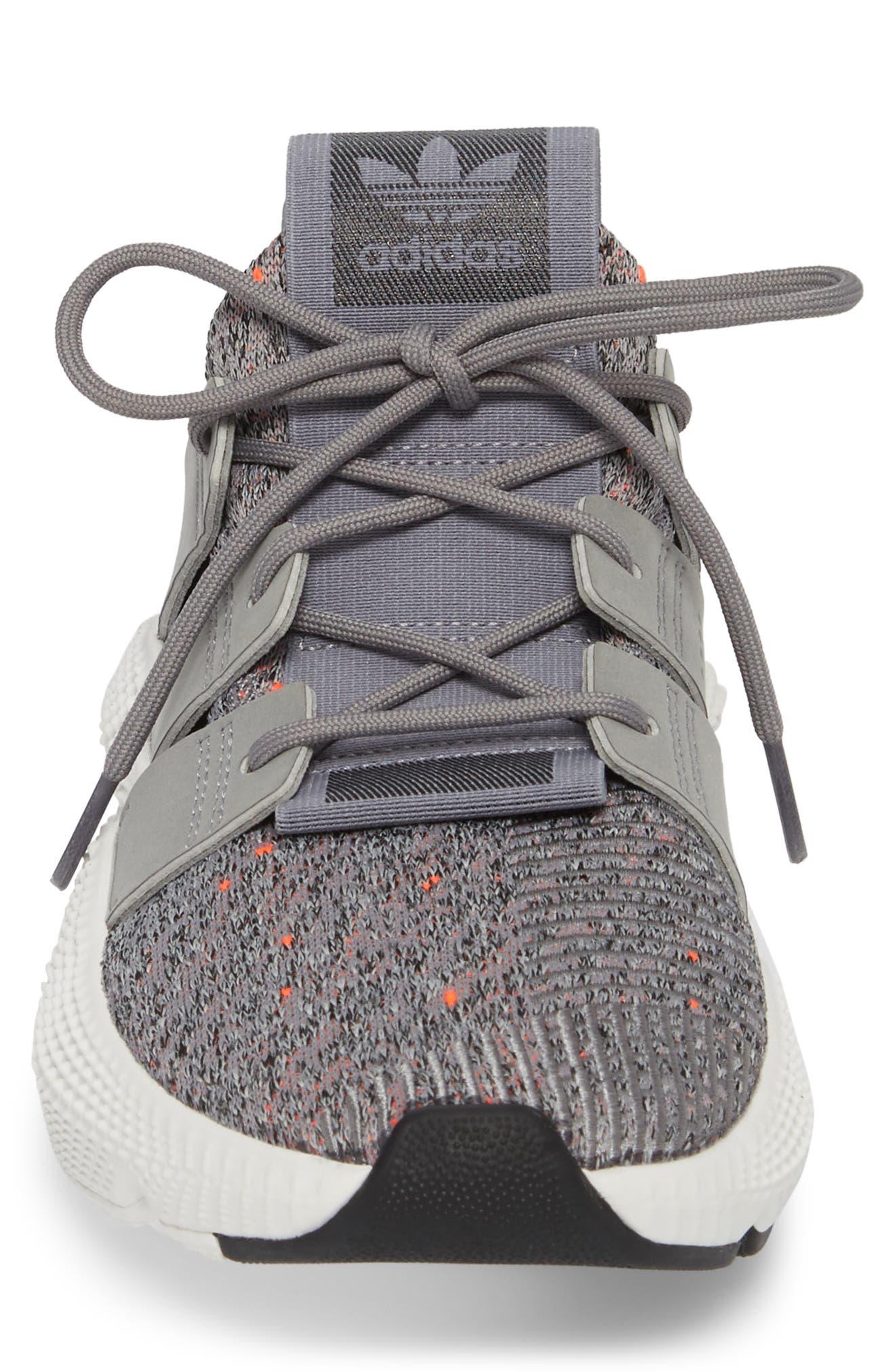 Prophere Sneaker,                             Alternate thumbnail 4, color,                             Grey/ White/ Solar Red