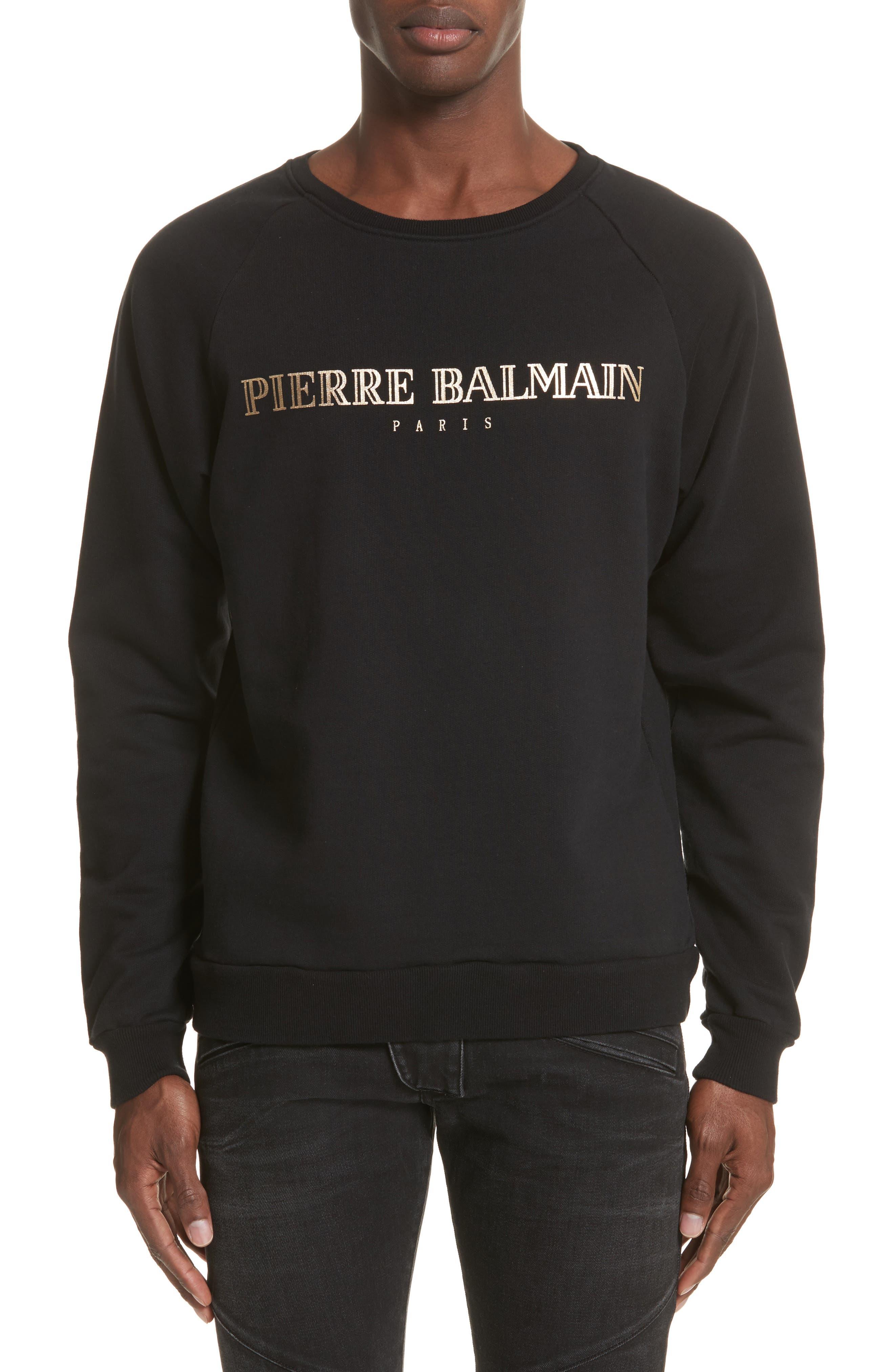 Pierre Balmain Logo Graphic Sweatshirt