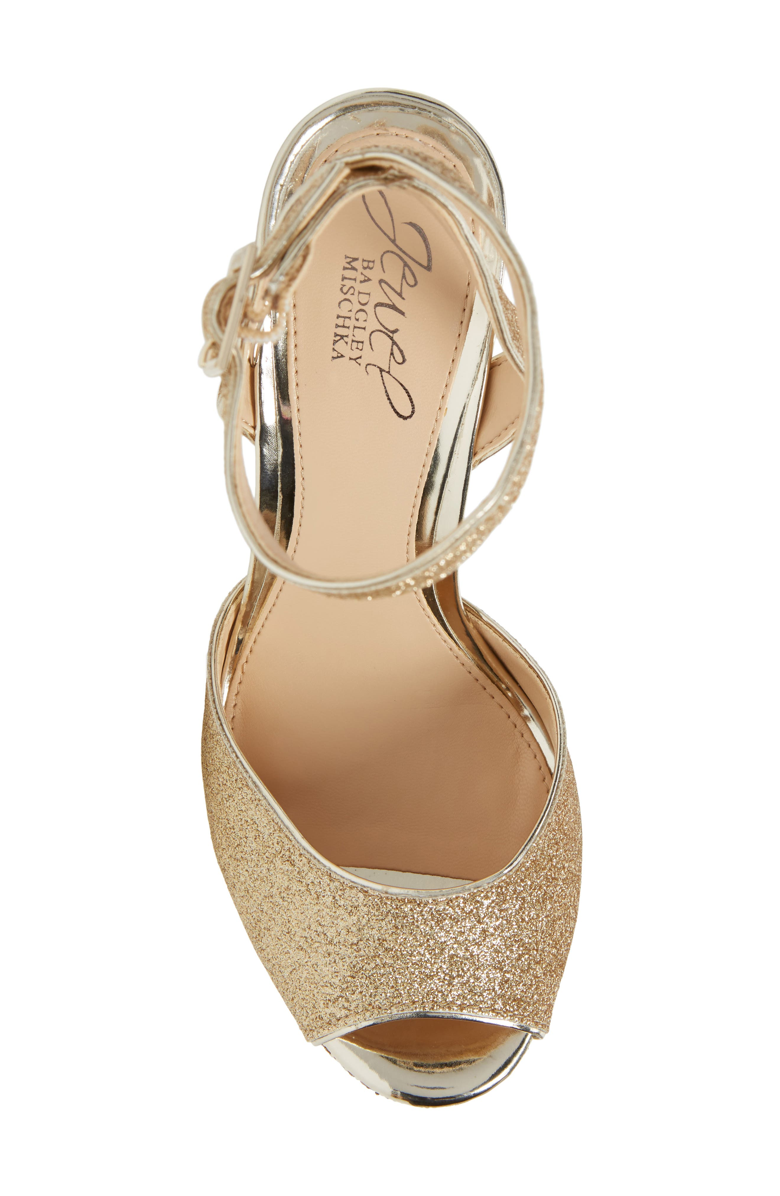Alternate Image 5  - Jewel Badgley Mischka Luke Platform Sandal (Women)