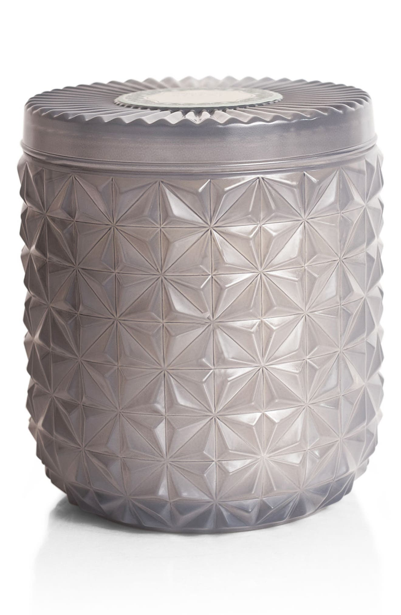 Muse Collection Jumbo Faceted Jar Candle,                         Main,                         color, Light Gray