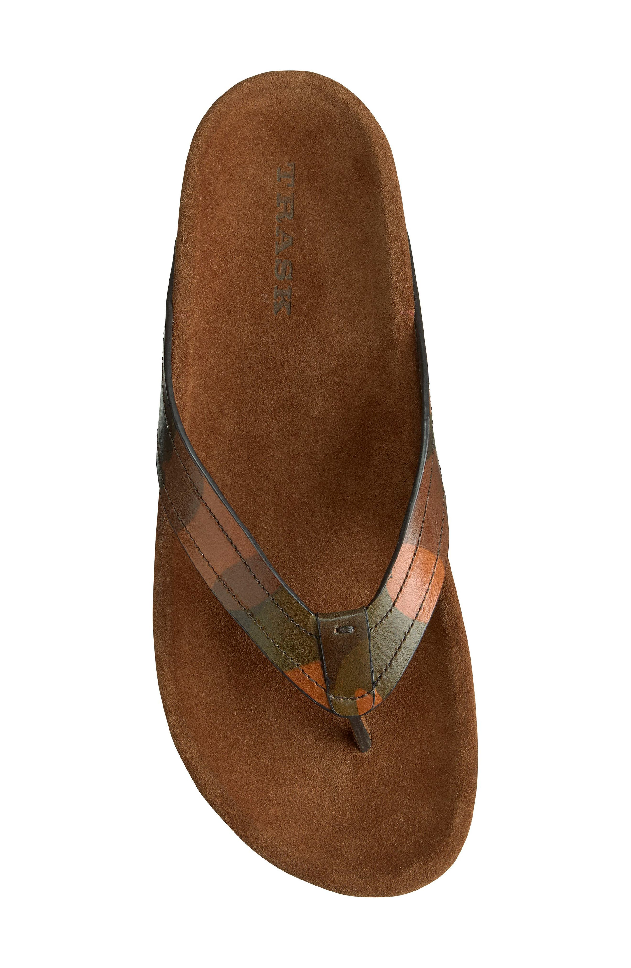 Fleming Flip Flop,                             Alternate thumbnail 4, color,                             Camoflage Leather