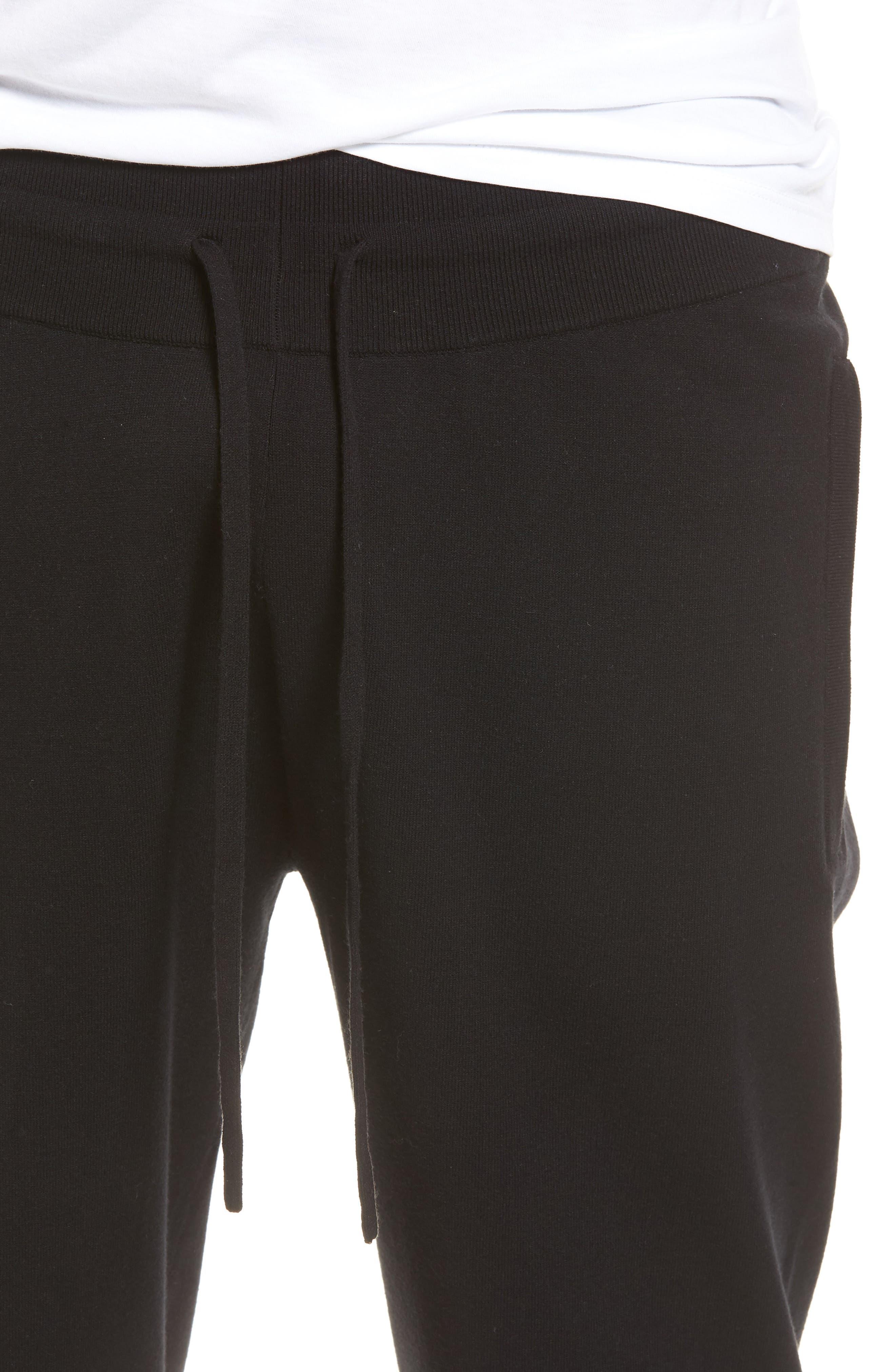 Slim Fit Jogger Pants,                             Alternate thumbnail 4, color,                             Black