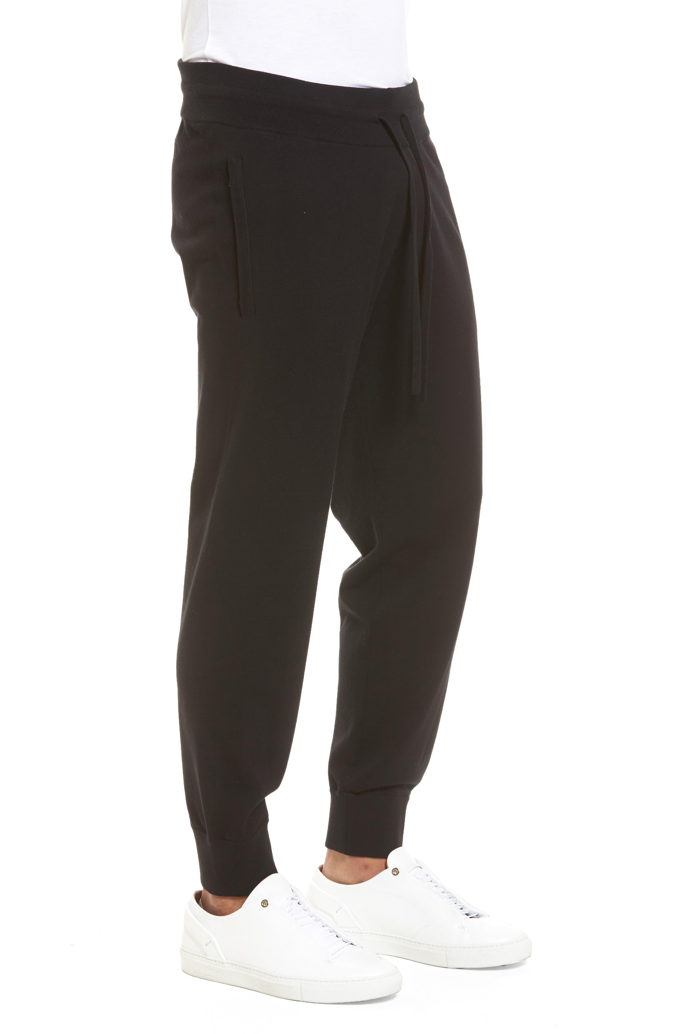 Slim Fit Jogger Pants,                             Alternate thumbnail 3, color,                             Black