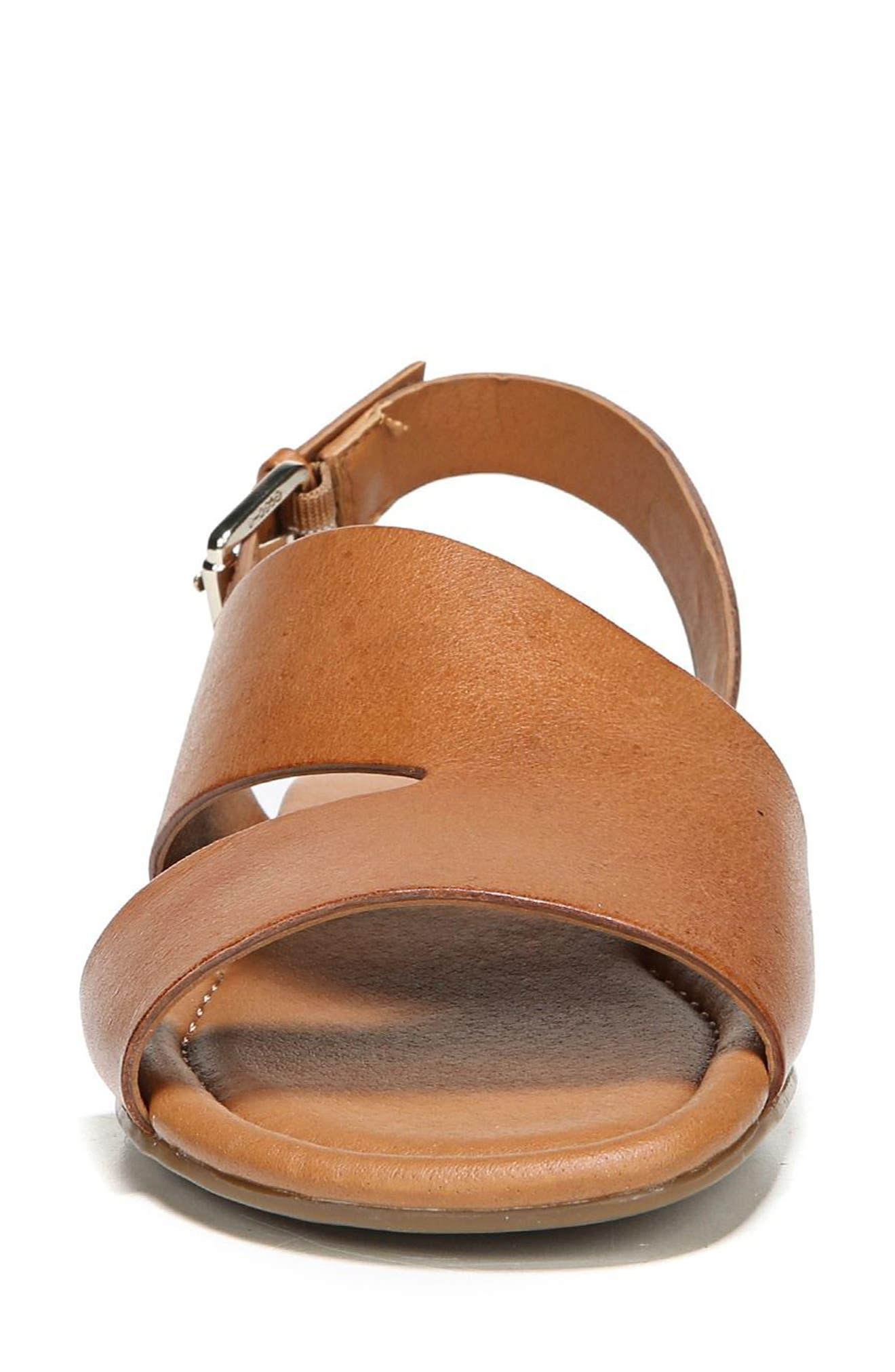 Garza Slingback Sandal,                             Alternate thumbnail 4, color,                             Tan Leather