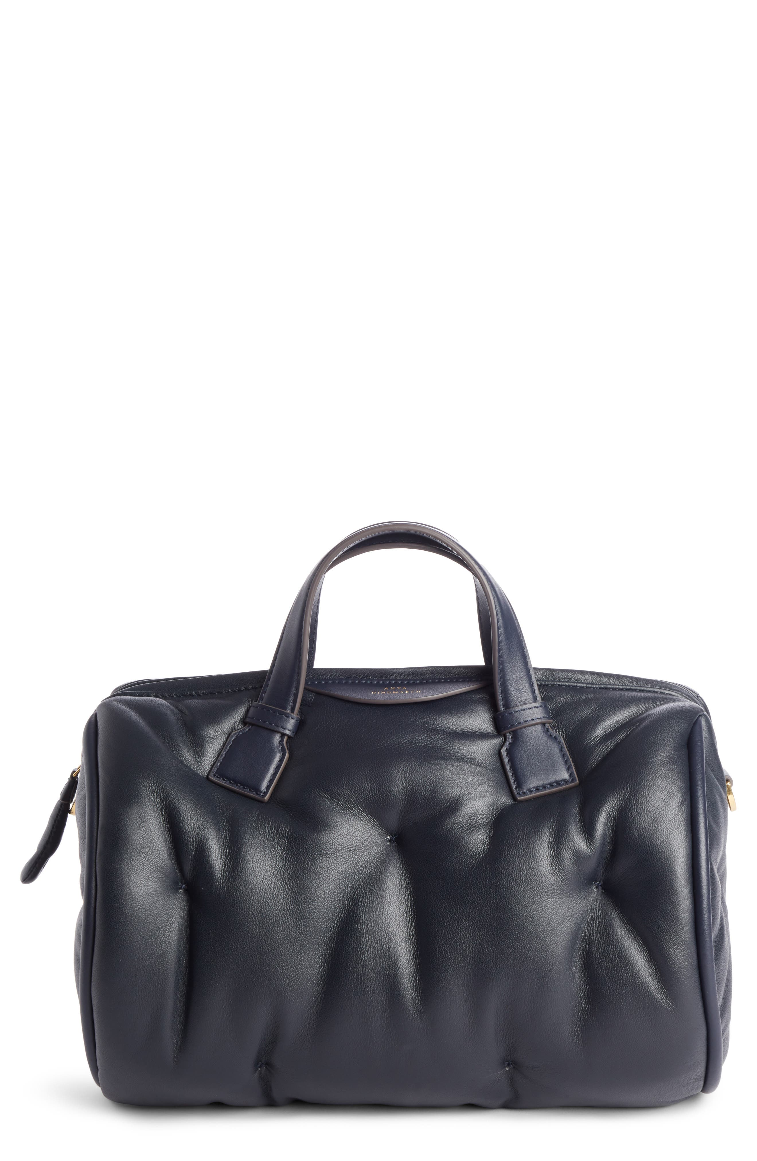 Alternate Image 1 Selected - Anya Hindmarch Chubby Barrel Nappa Leather Satchel