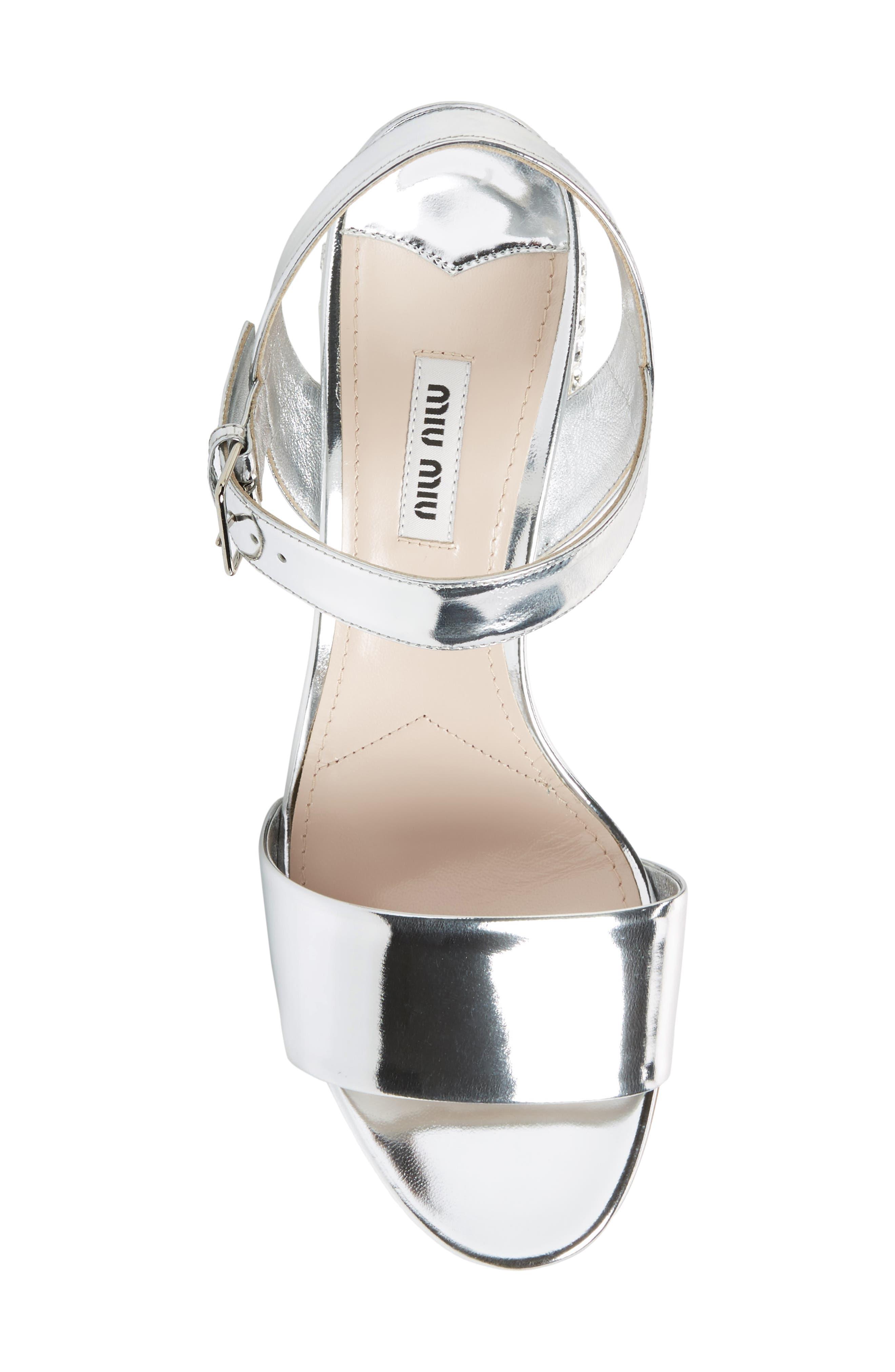 Alternate Image 5  - Miu Miu Crystal Embellished Block Heel Sandal (Women)