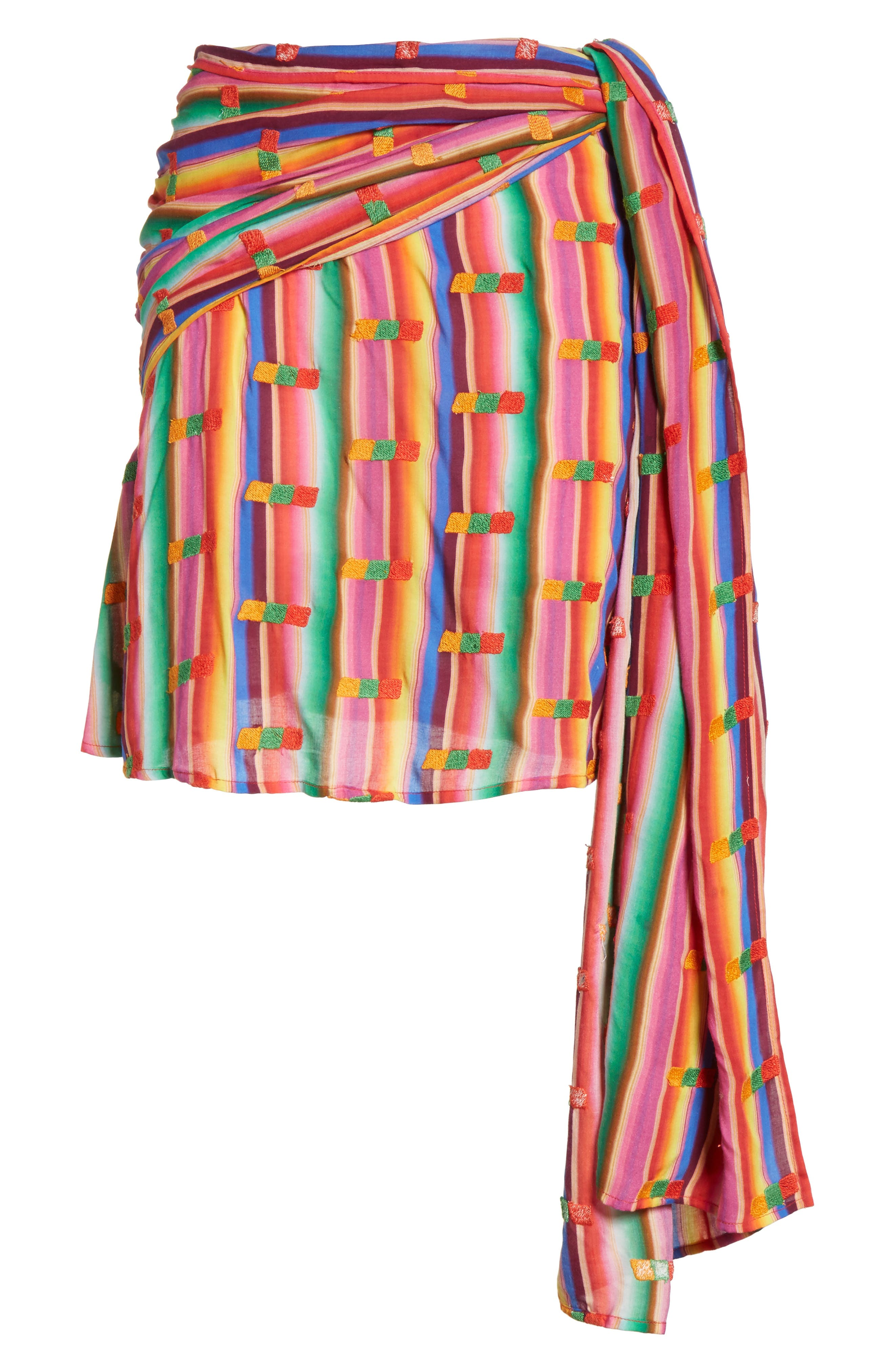 Roselie Wrap Style Skirt,                             Alternate thumbnail 6, color,                             Rainbow
