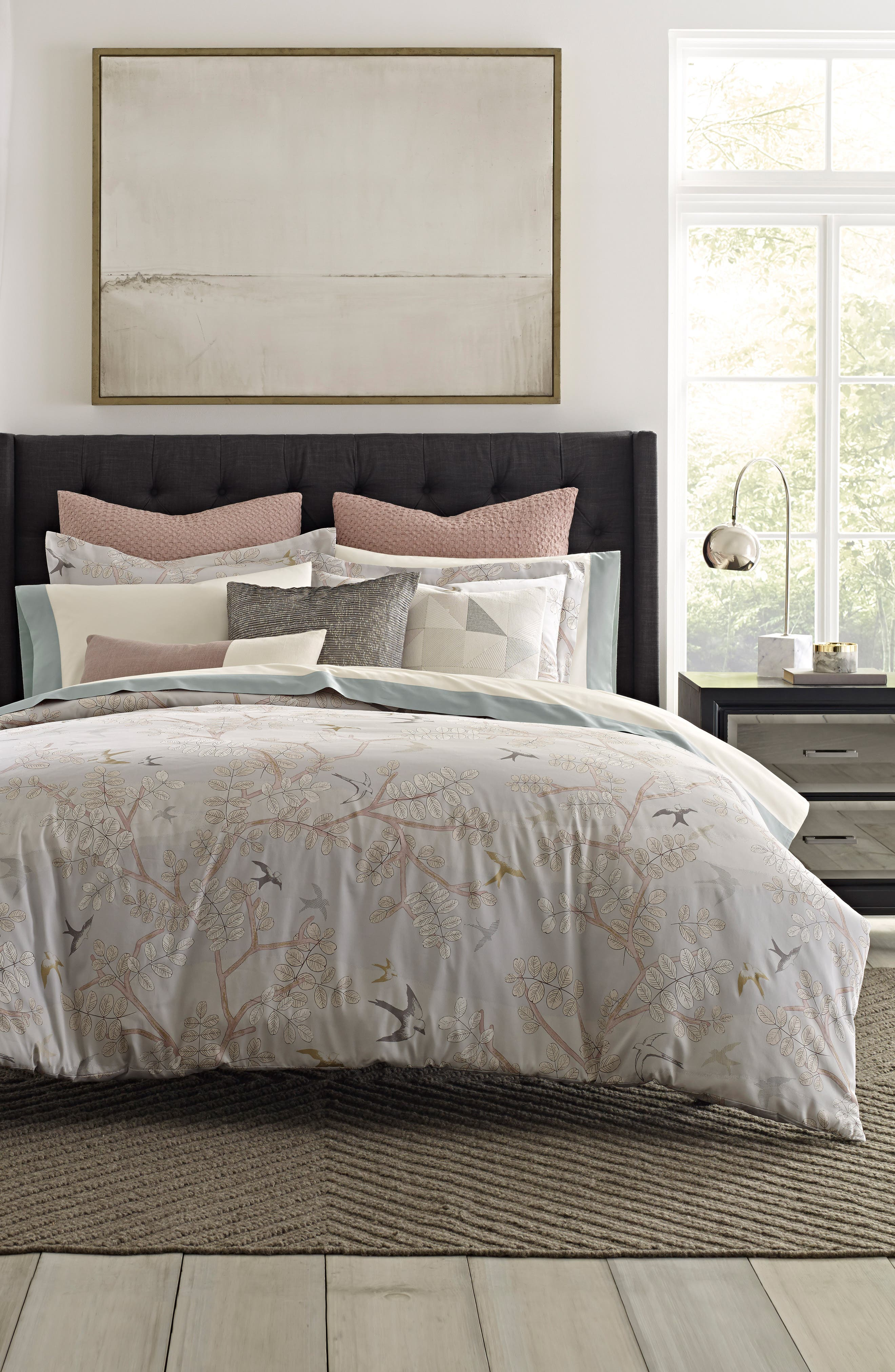 Margot 300 Thread Count Comforter,                             Main thumbnail 1, color,                             Light/ Pastel Grey