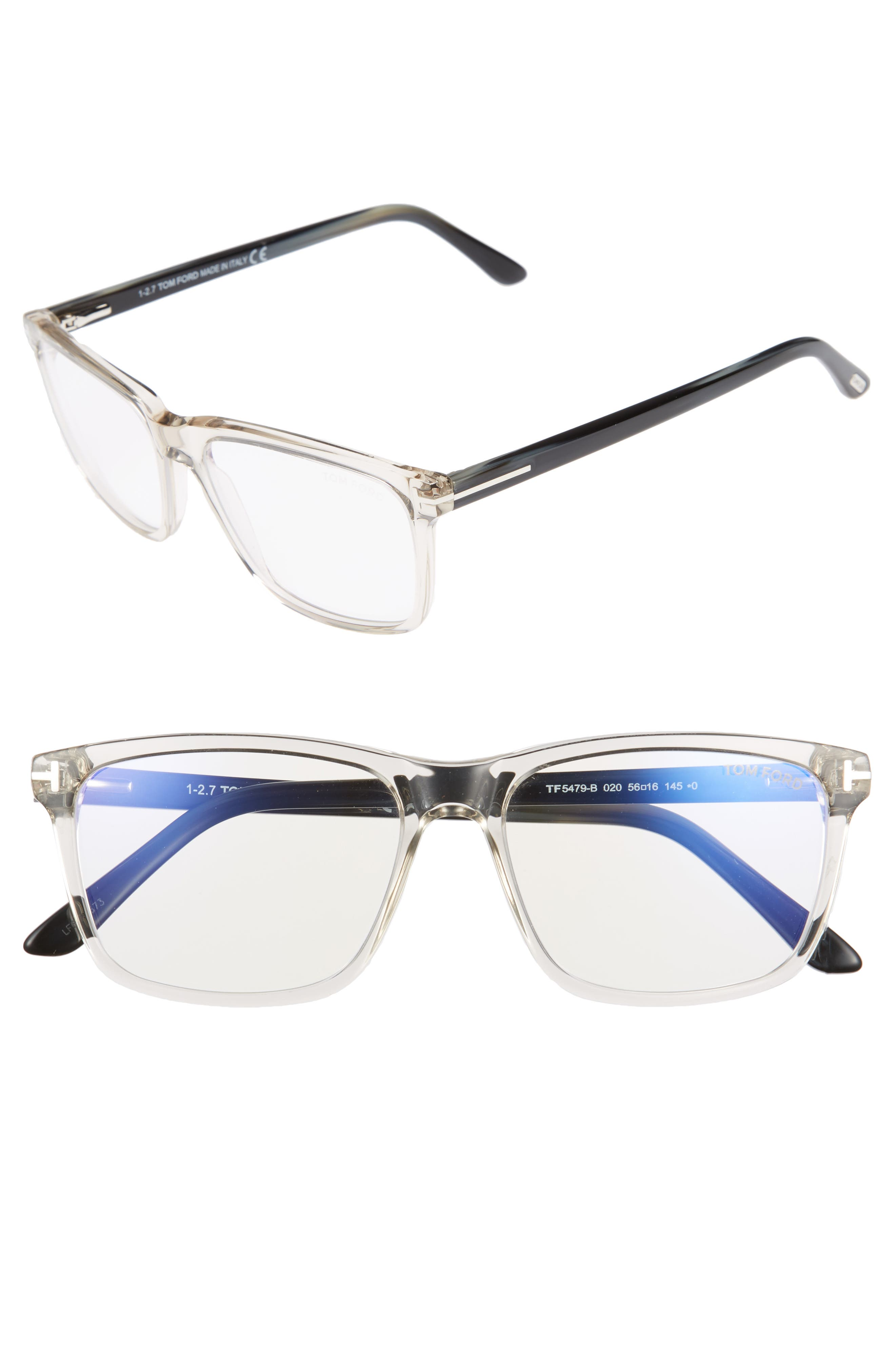 Tom Ford 56mm Blue Block Optical Glasses