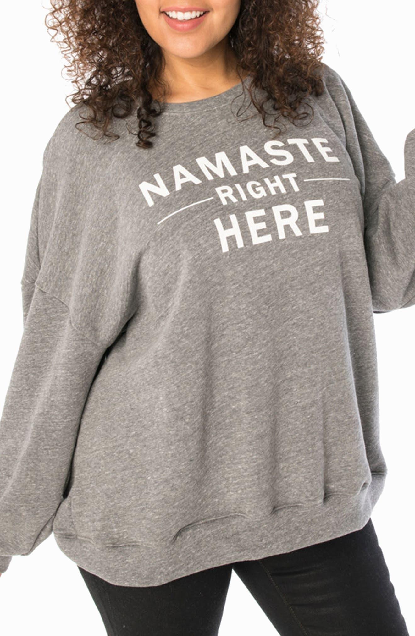 SLINK Jeans Namaste Oversize Sweatshirt (Plus Size)
