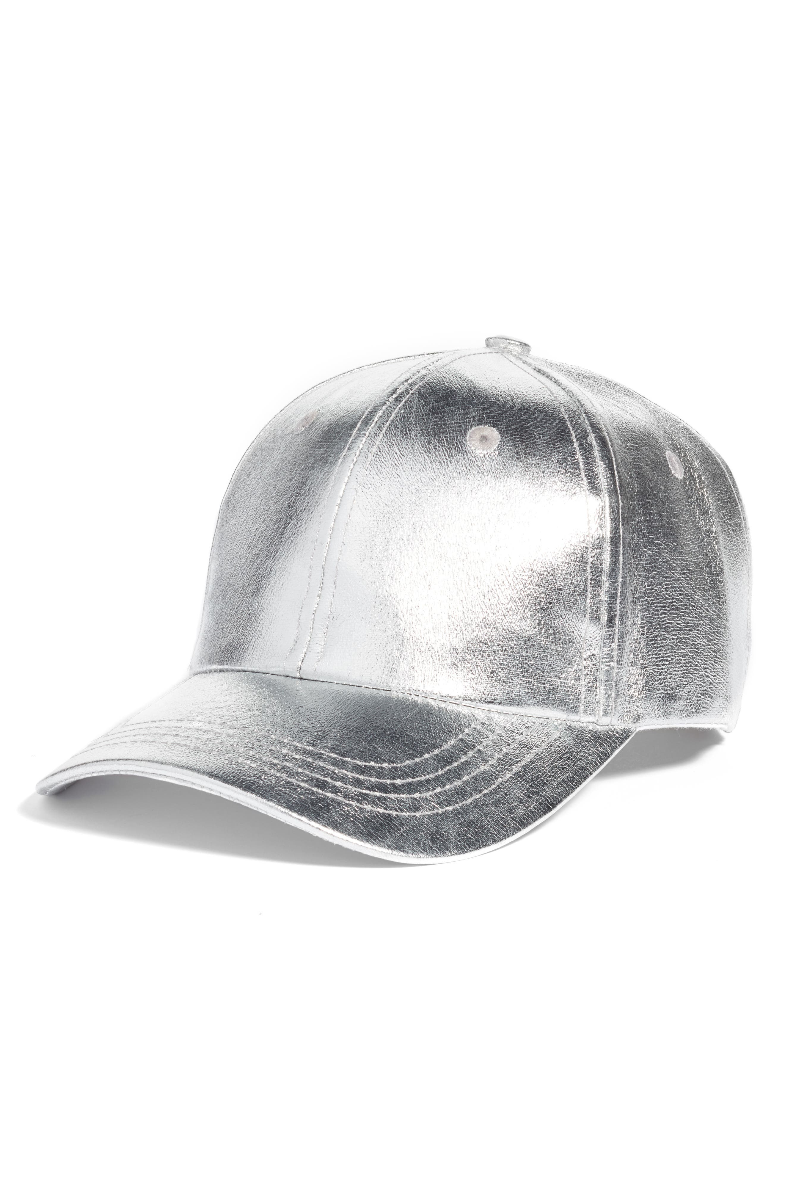 Collection XIIX Crackled Metallic Baseball Cap