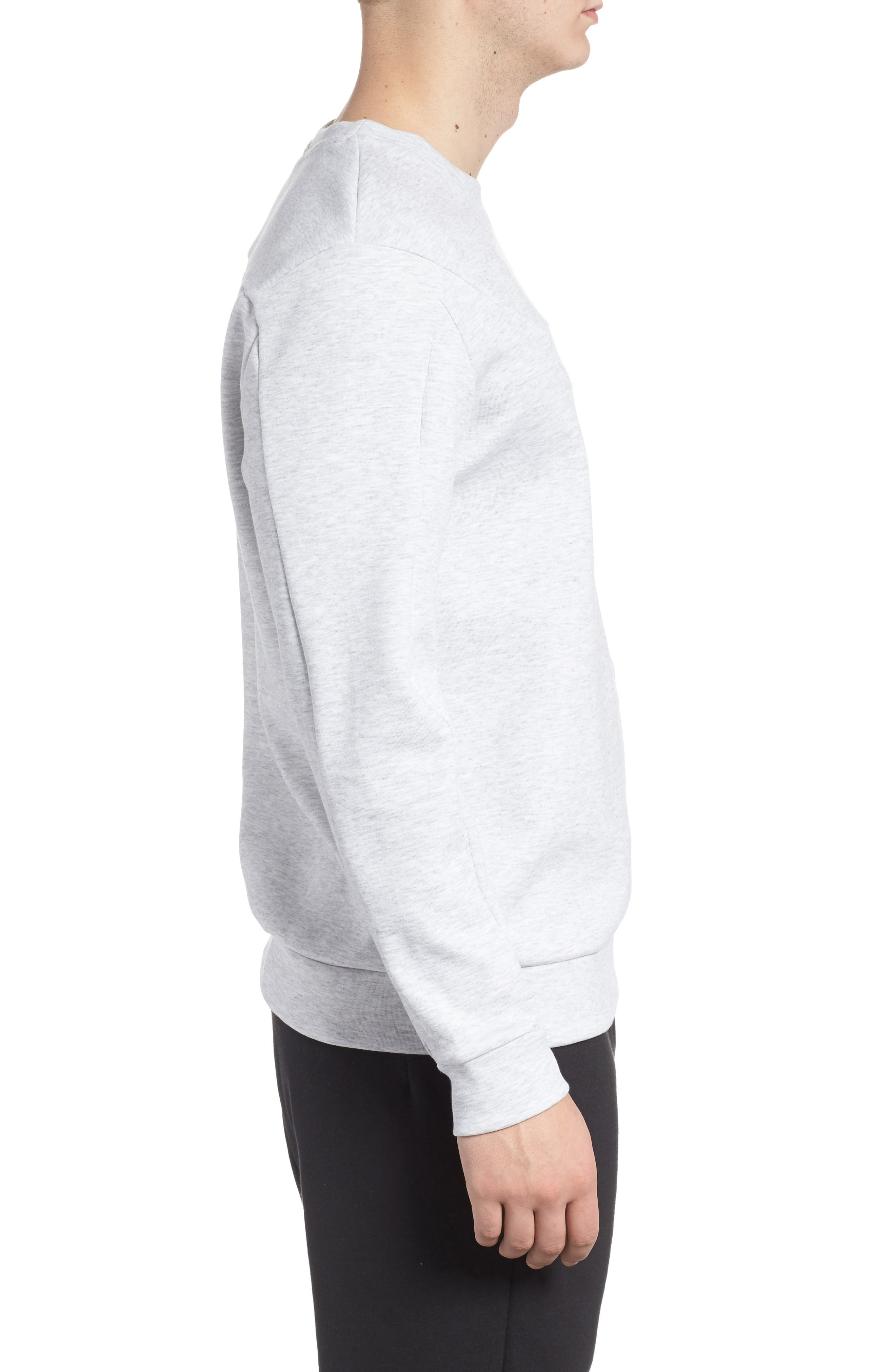 Double Sweatshirt,                             Alternate thumbnail 3, color,                             Light Grey Heather