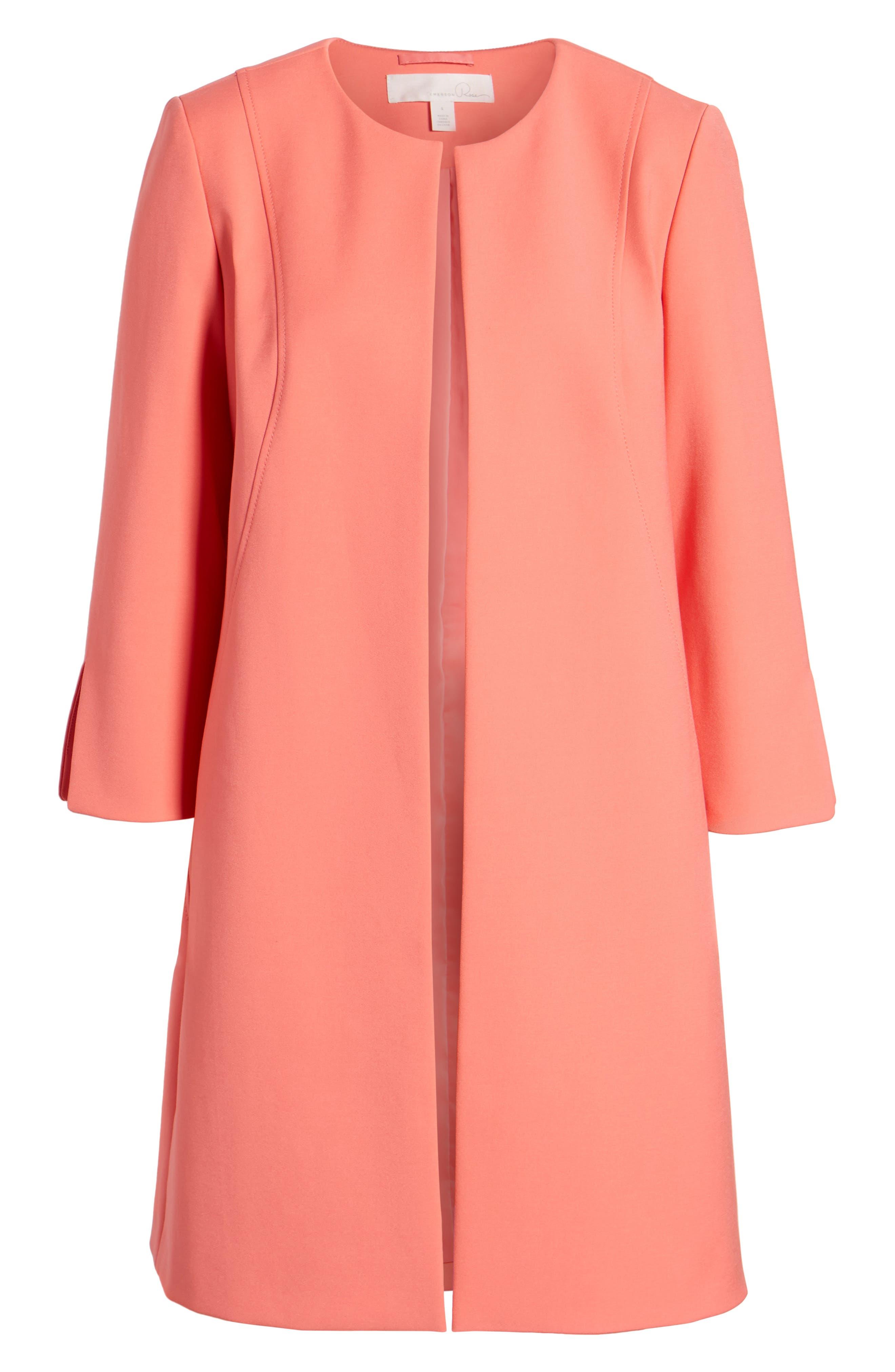 Long Jacket,                             Alternate thumbnail 7, color,                             Coral Glow