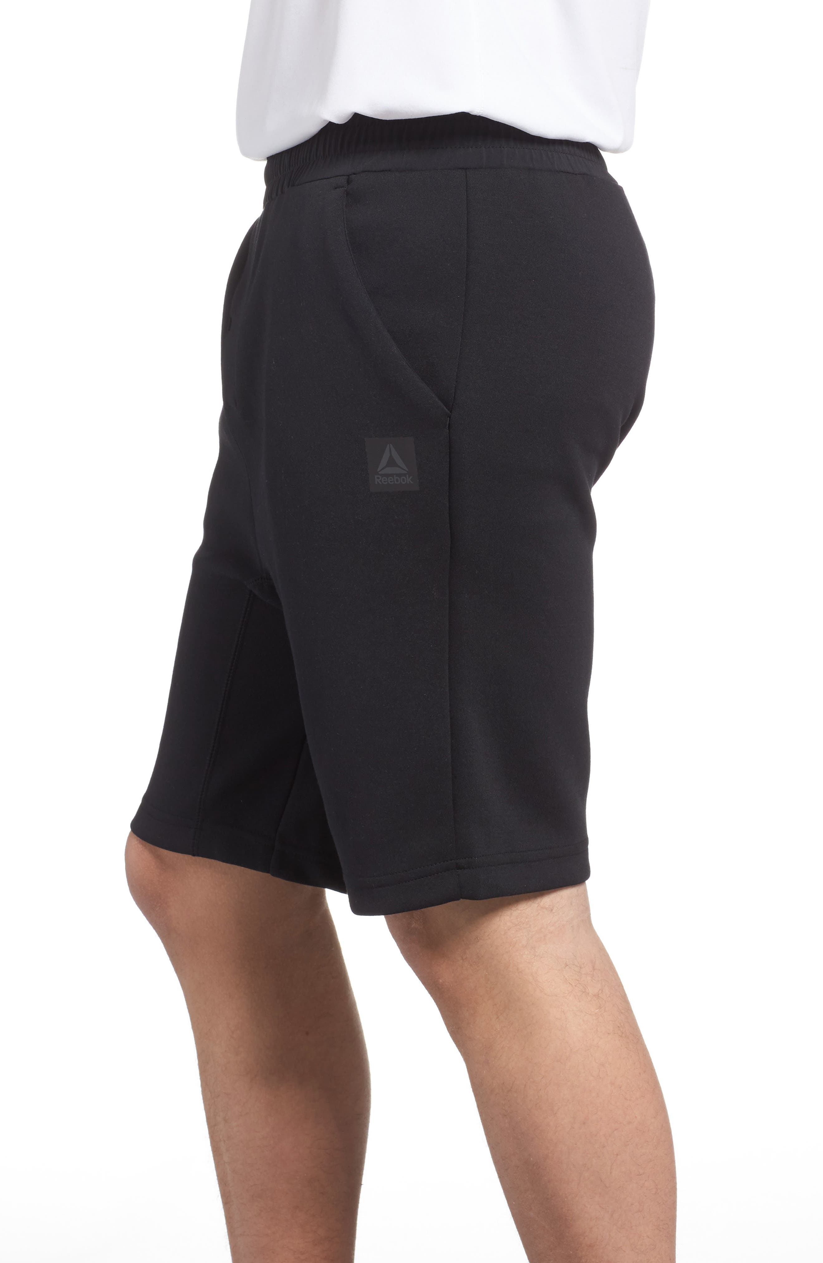TS Knit Shorts,                             Alternate thumbnail 3, color,                             Black