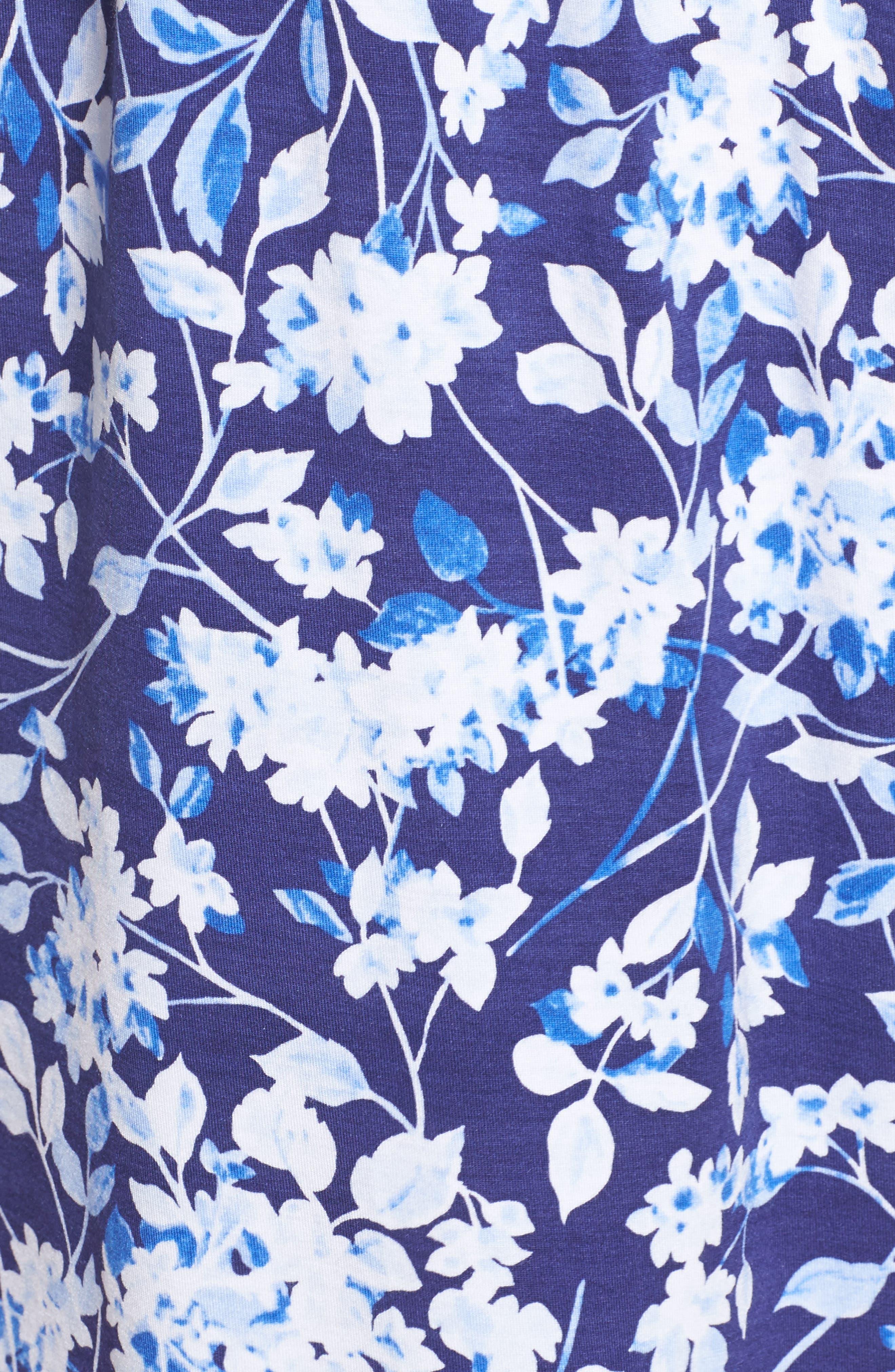 Waltz Nightgown,                             Alternate thumbnail 5, color,                             Blue Multi Floral