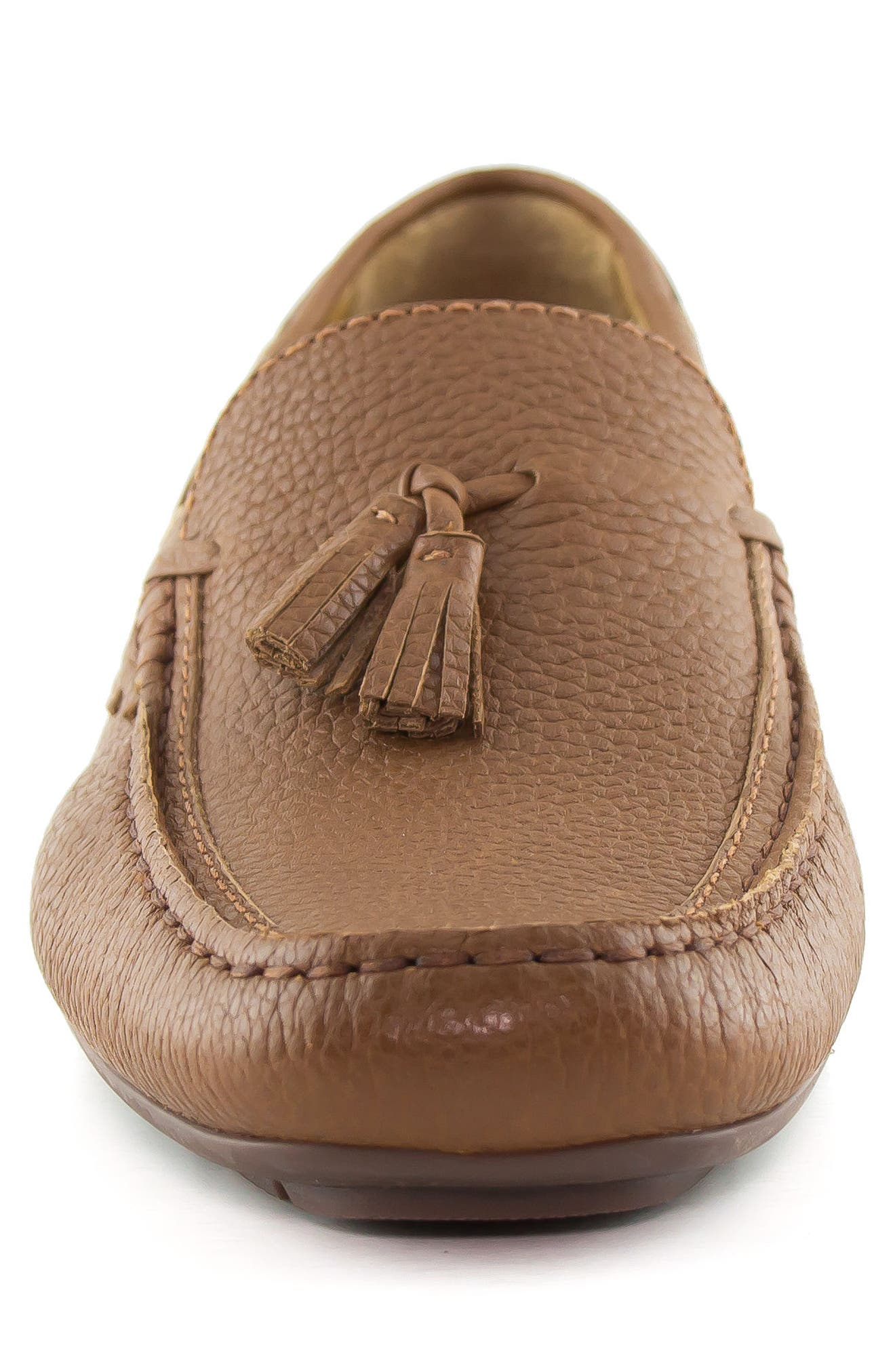 Bushwick Tasseled Driving Loafer,                             Alternate thumbnail 4, color,                             Cognac
