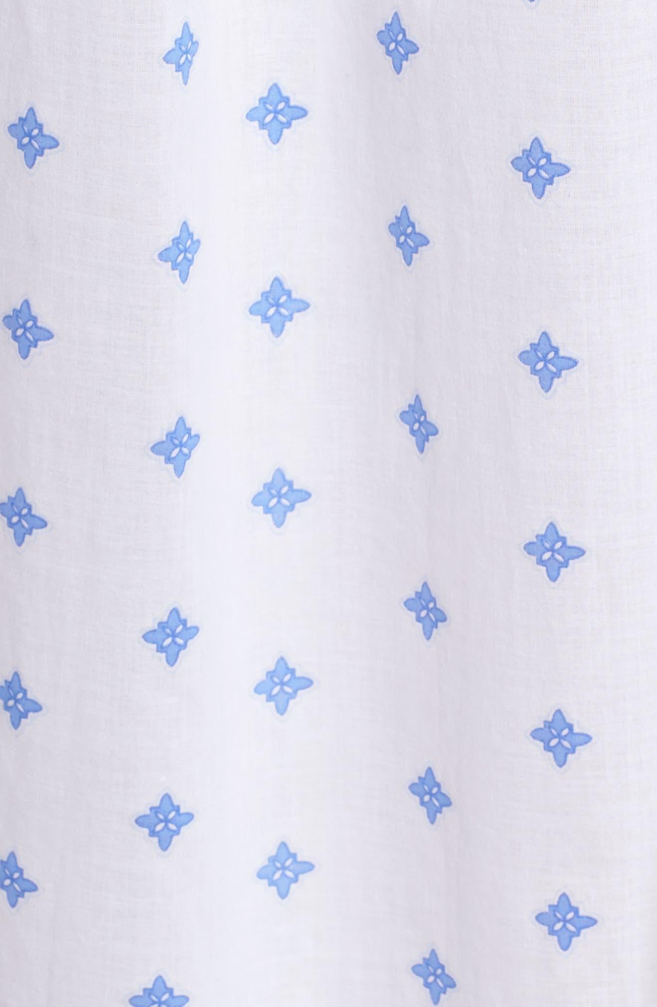 Ballet Nightgown,                             Alternate thumbnail 6, color,                             White Blue Geo