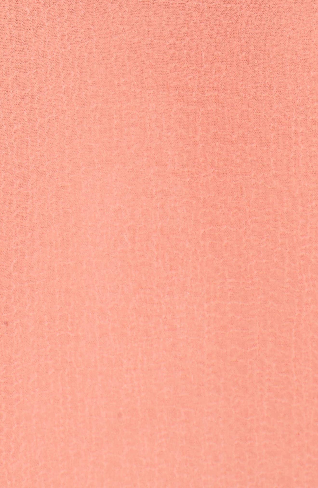Iniko Blouson Dress,                             Alternate thumbnail 5, color,                             Spring Coral