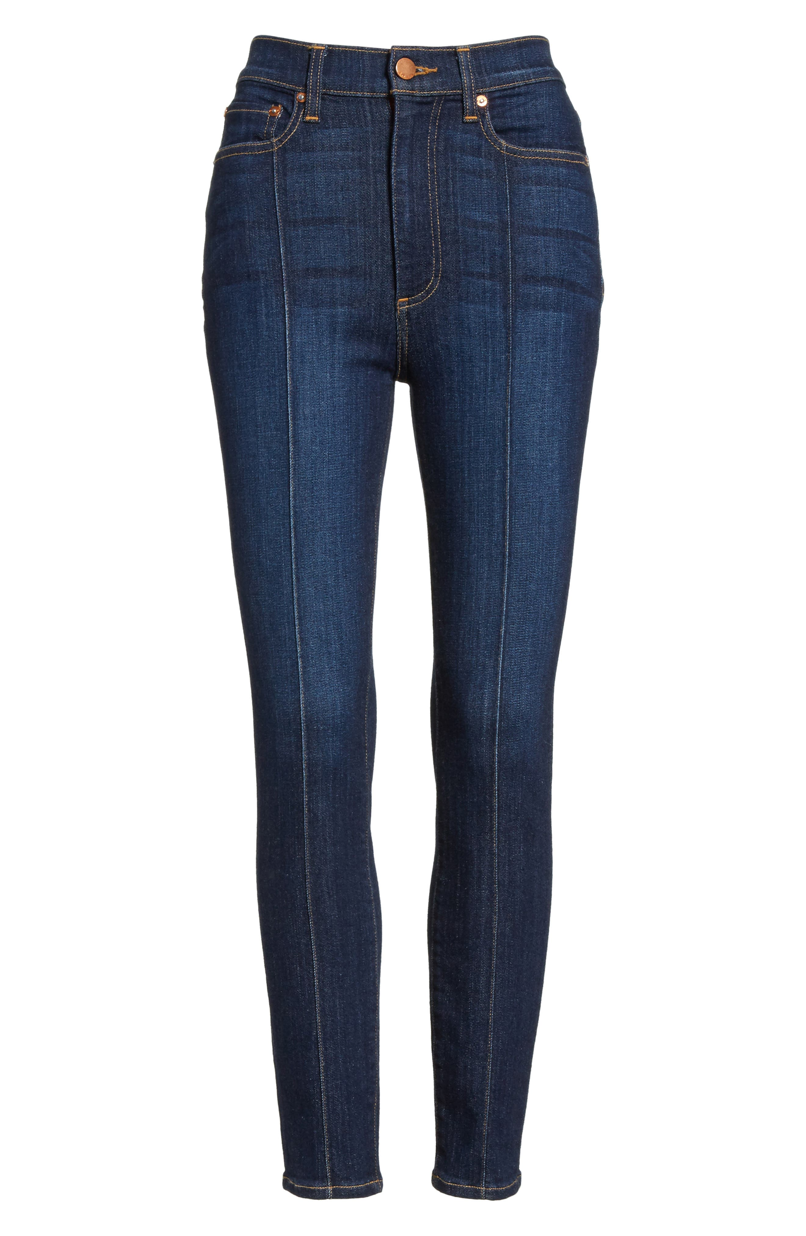 AO.LA Good High Waist Pintuck Skinny Jeans,                             Alternate thumbnail 6, color,                             Dream On
