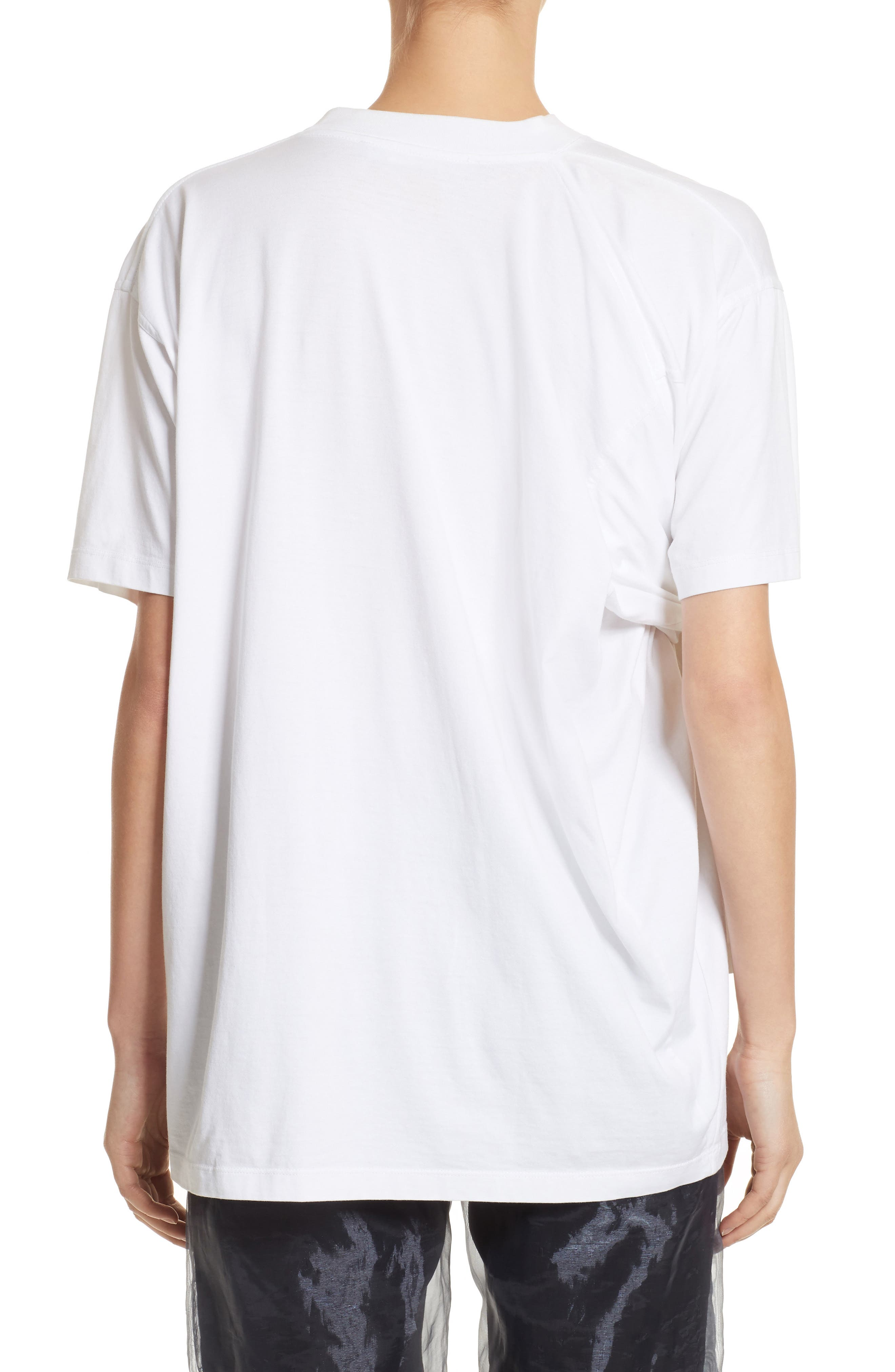 Tie Front Tee,                             Alternate thumbnail 2, color,                             White