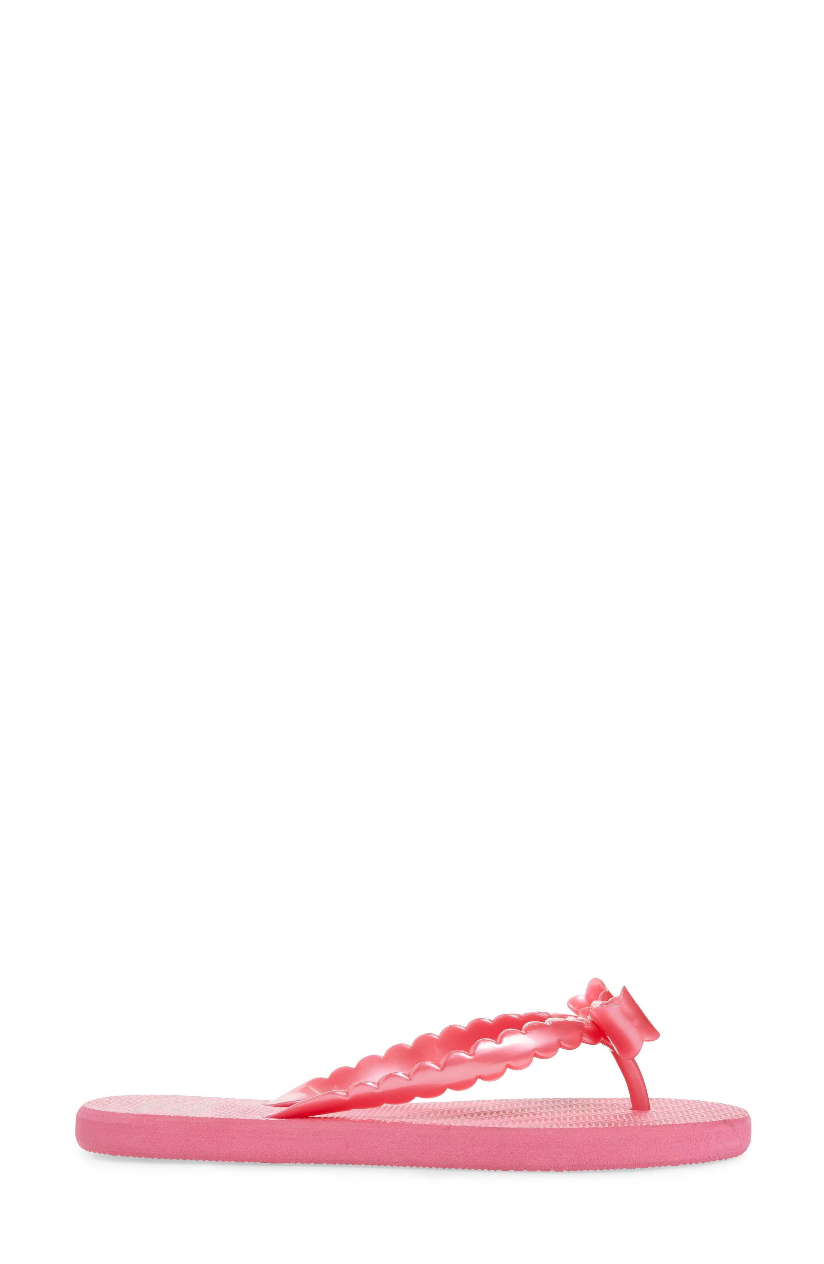 denise flip flop,                             Alternate thumbnail 3, color,                             Deep Pink