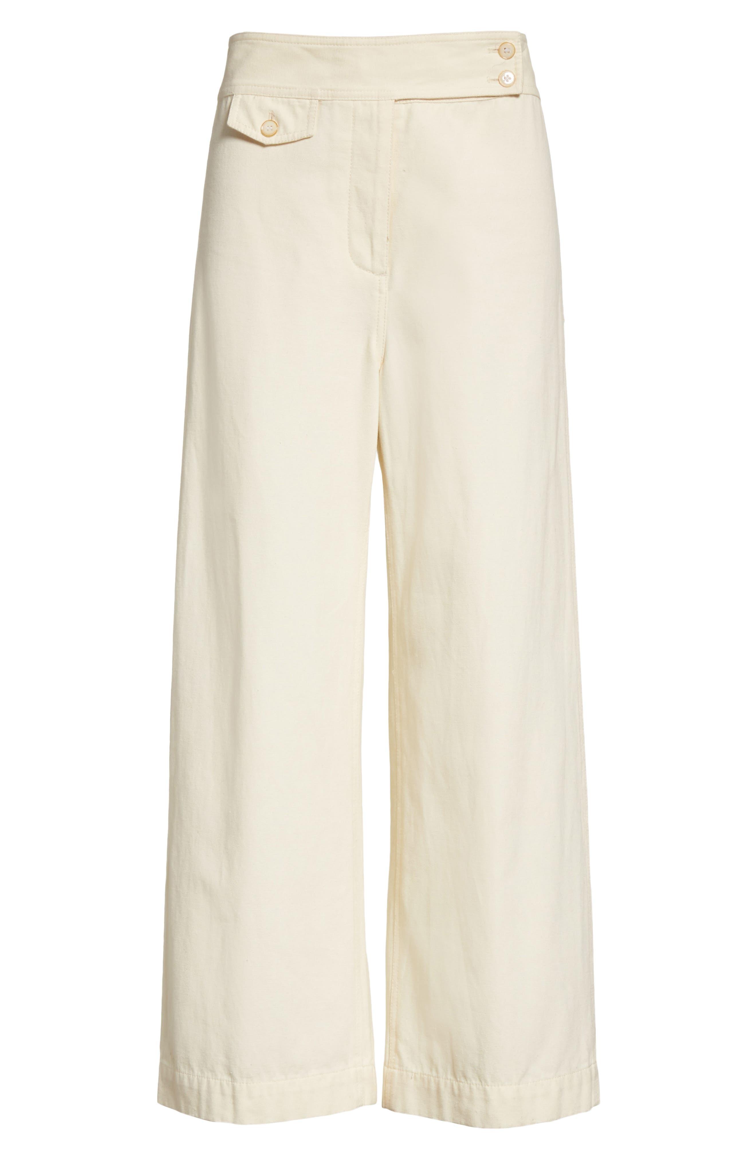 Caymen Cotton Gaucho Pants,                             Alternate thumbnail 6, color,                             Natural