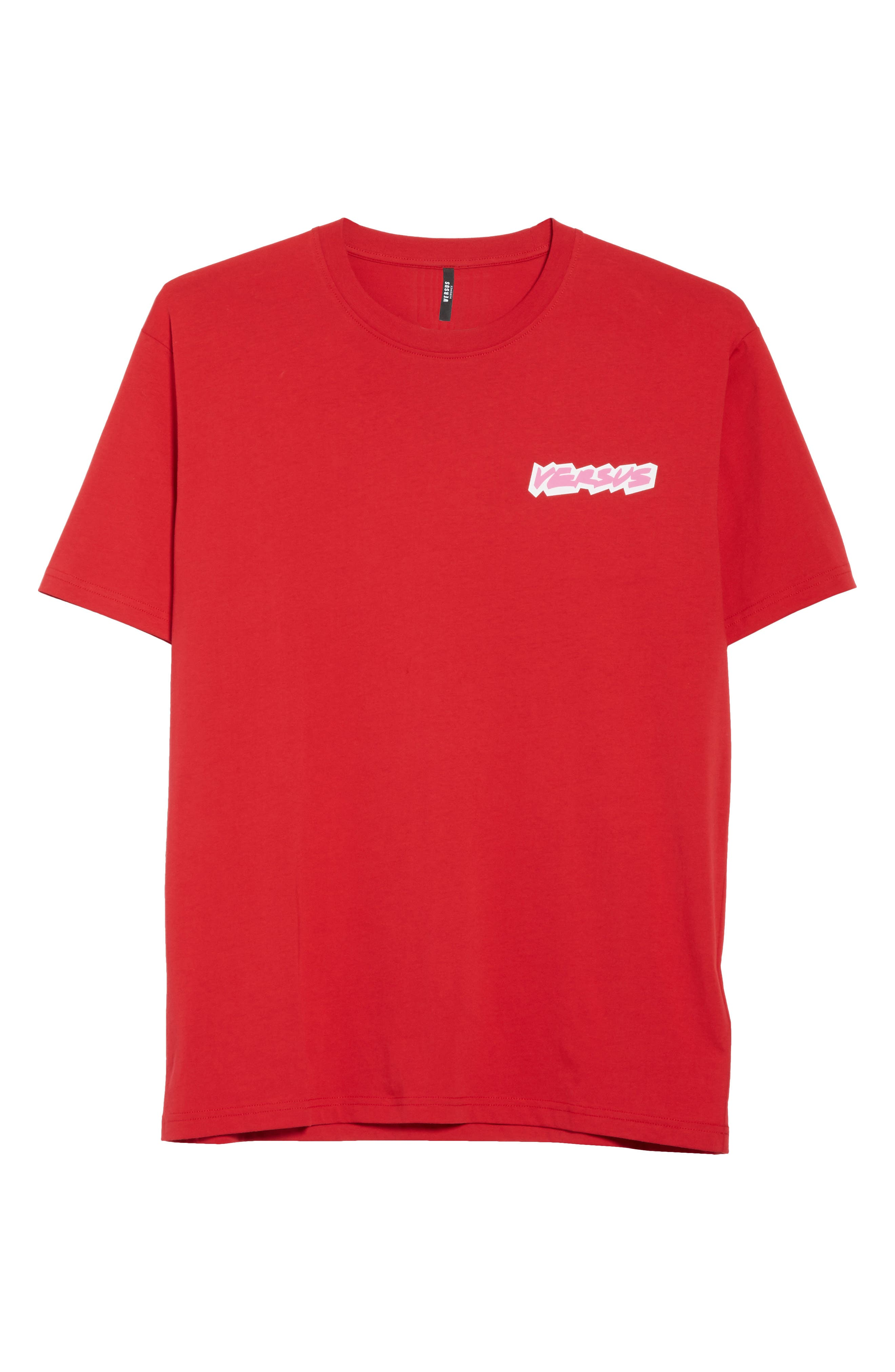 VERSUS by Versace Logo Graphic T-Shirt,                             Main thumbnail 1, color,                             Red
