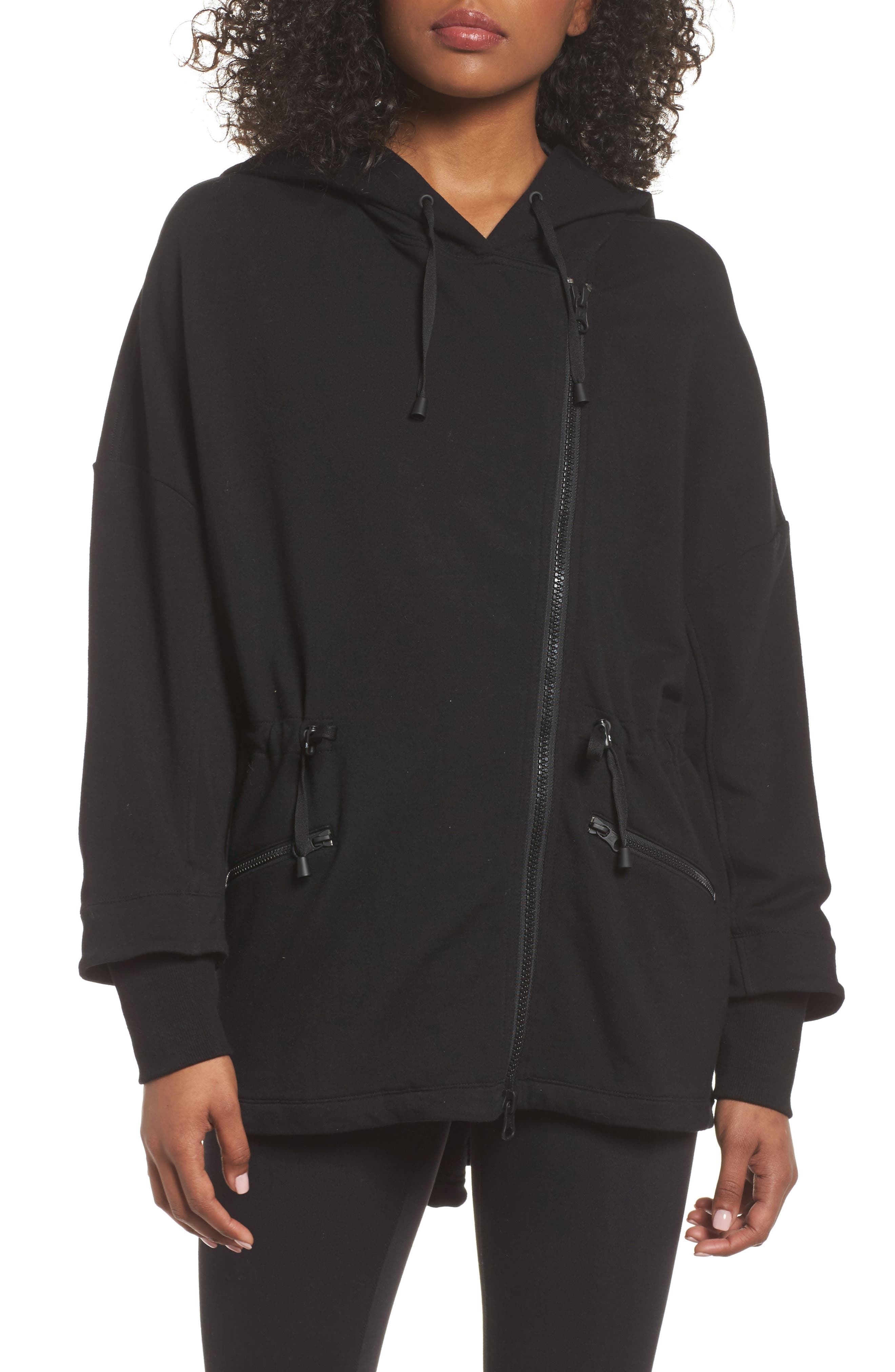 Ryder Fleece Jacket,                             Alternate thumbnail 4, color,                             Black