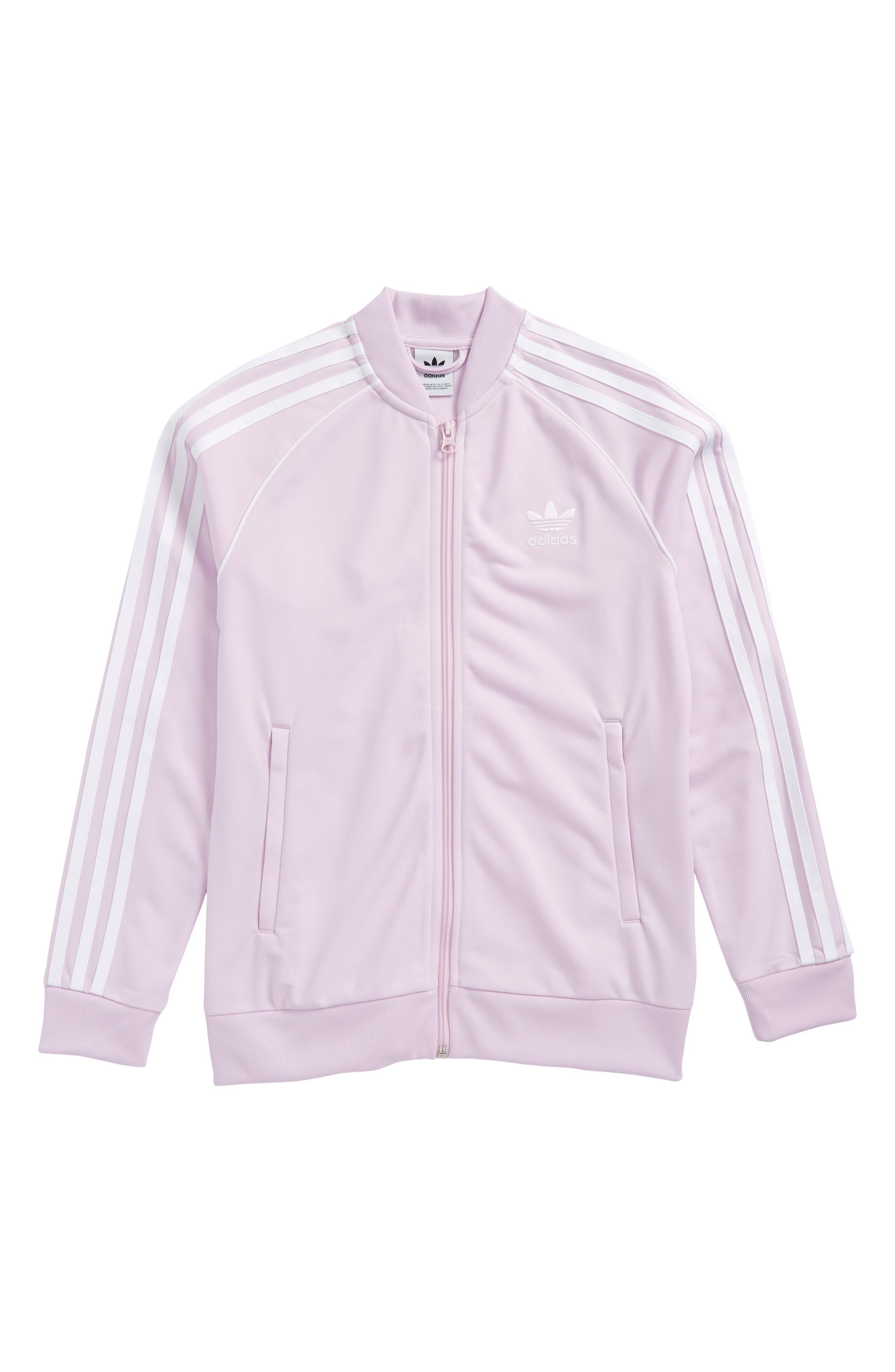 adidas SST Track Jacket,                             Main thumbnail 1, color,                             Pink
