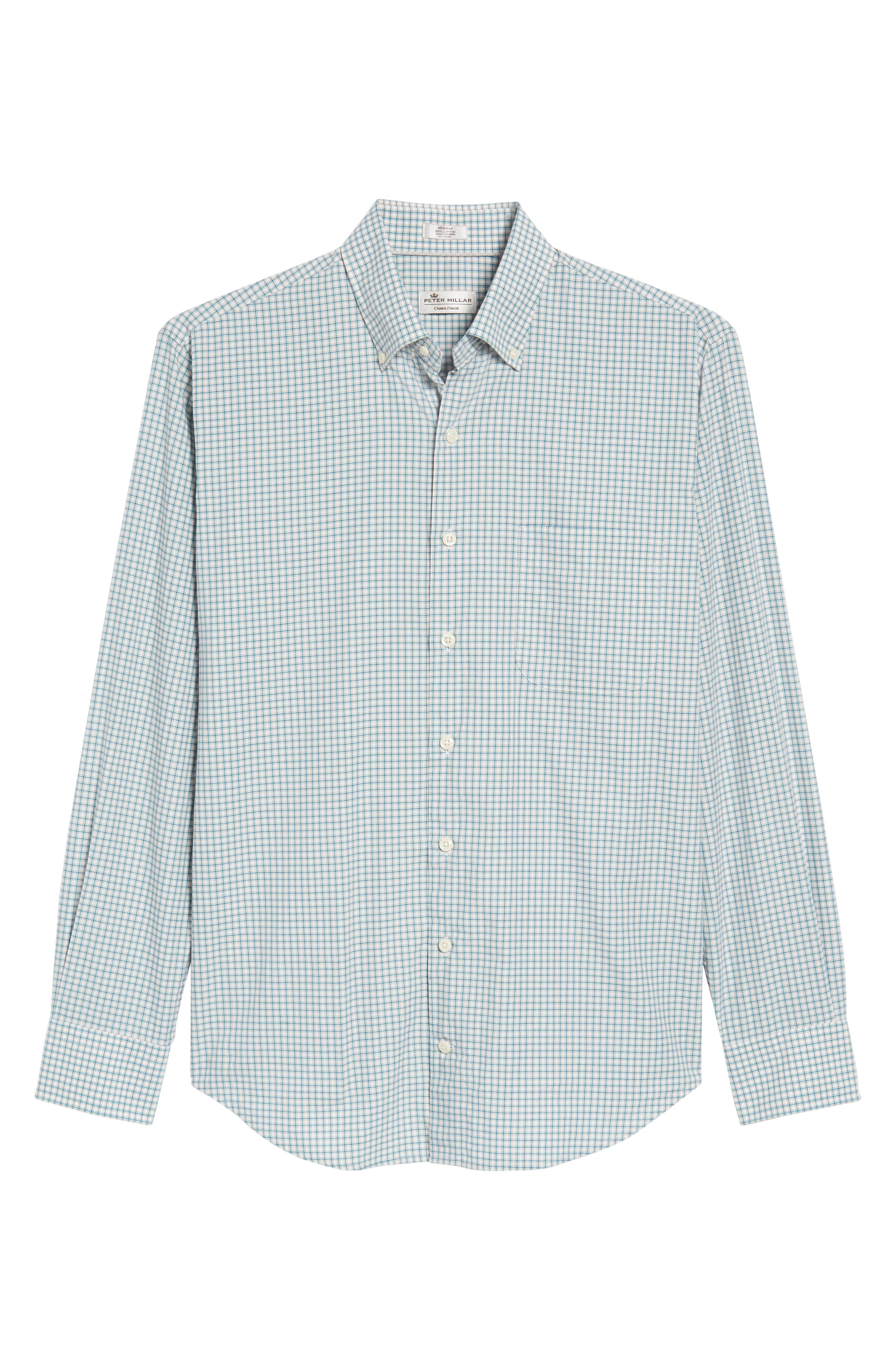 Classic Fit Alligator Check Sport Shirt,                             Alternate thumbnail 6, color,                             Dreamsicle