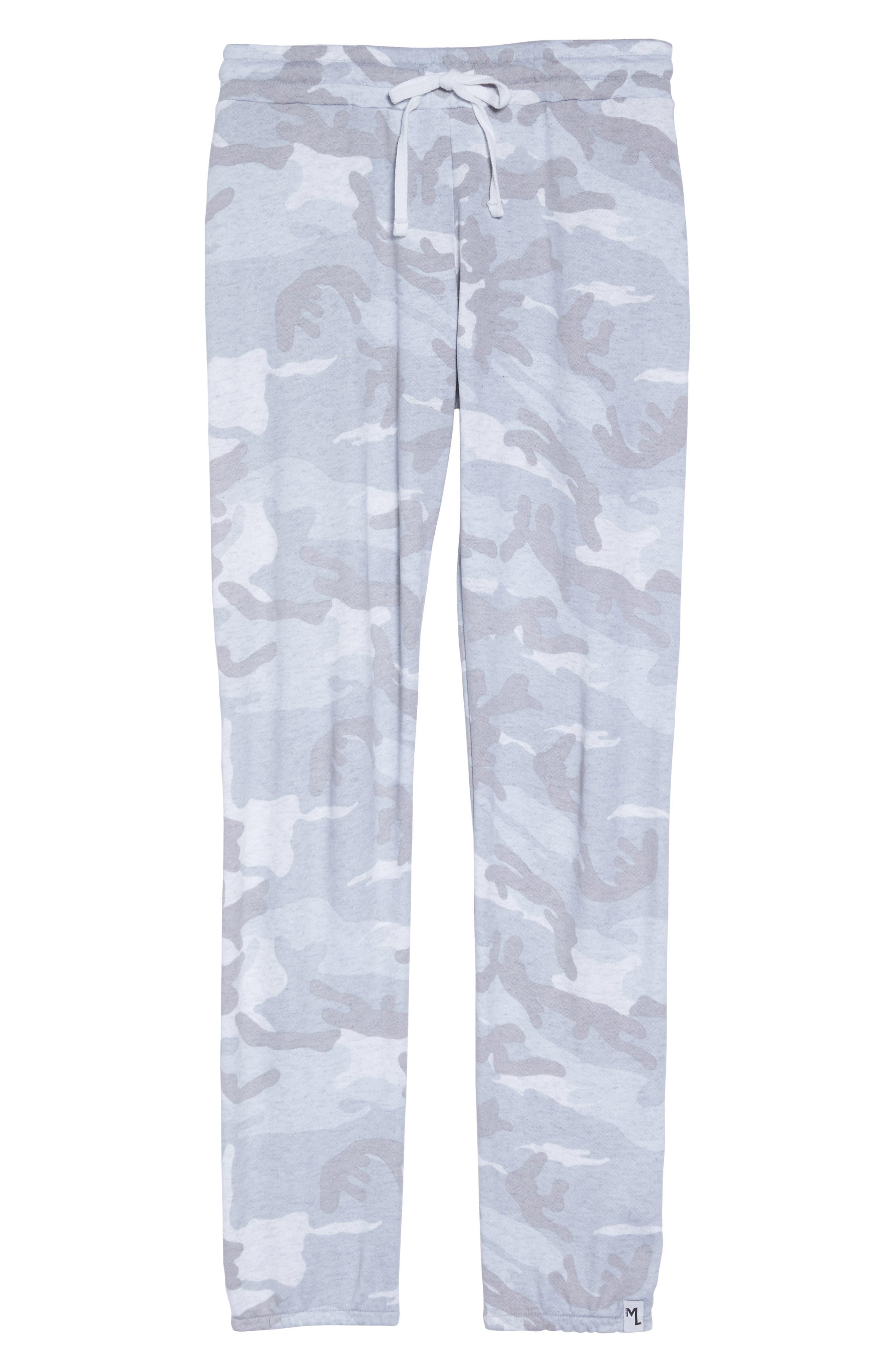 Campbell Vintage Jogger Pants,                             Alternate thumbnail 4, color,                             Light Grey Camo