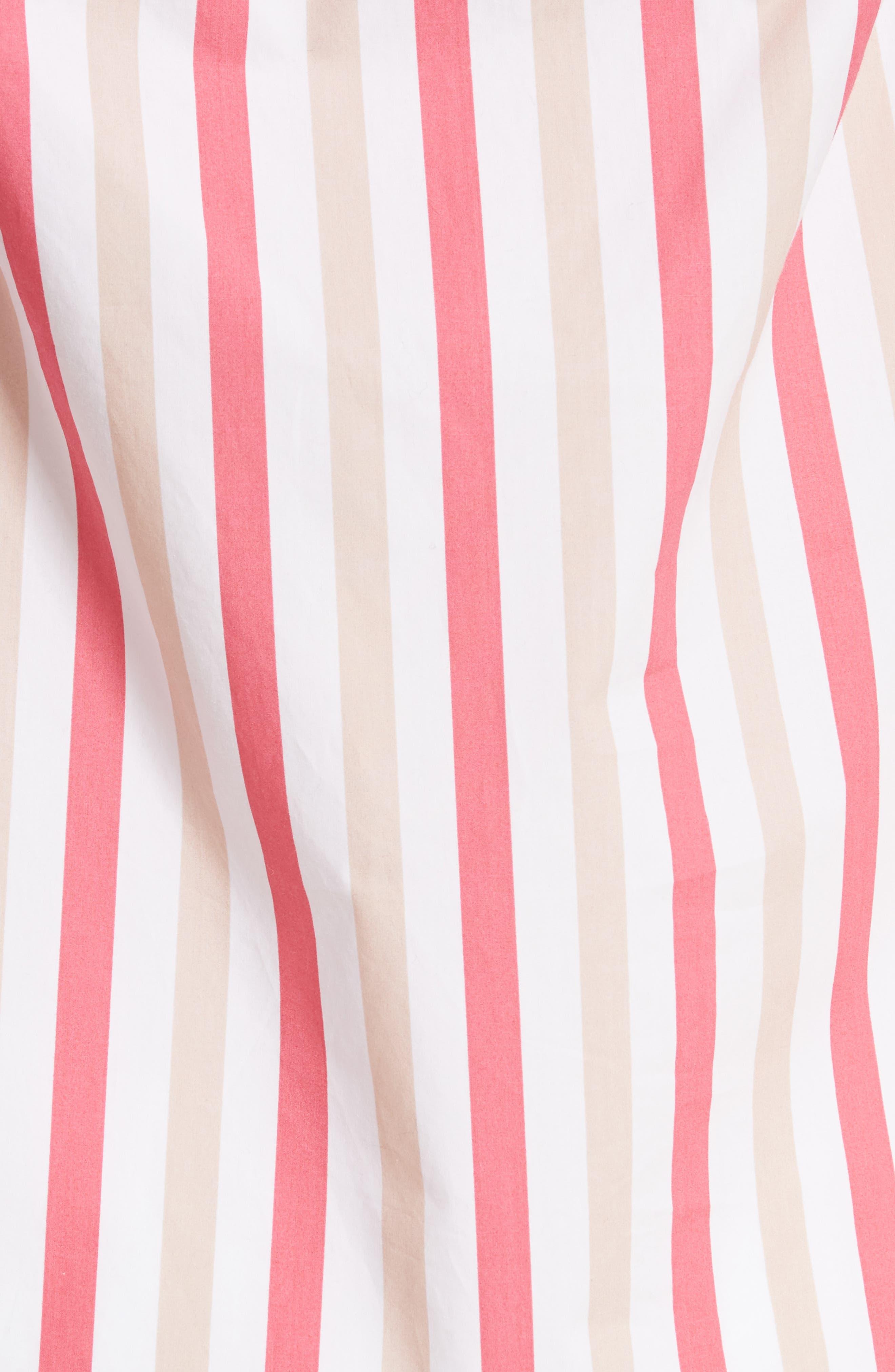off the shoulder stripe top,                             Alternate thumbnail 5, color,                             Peach Sherbet