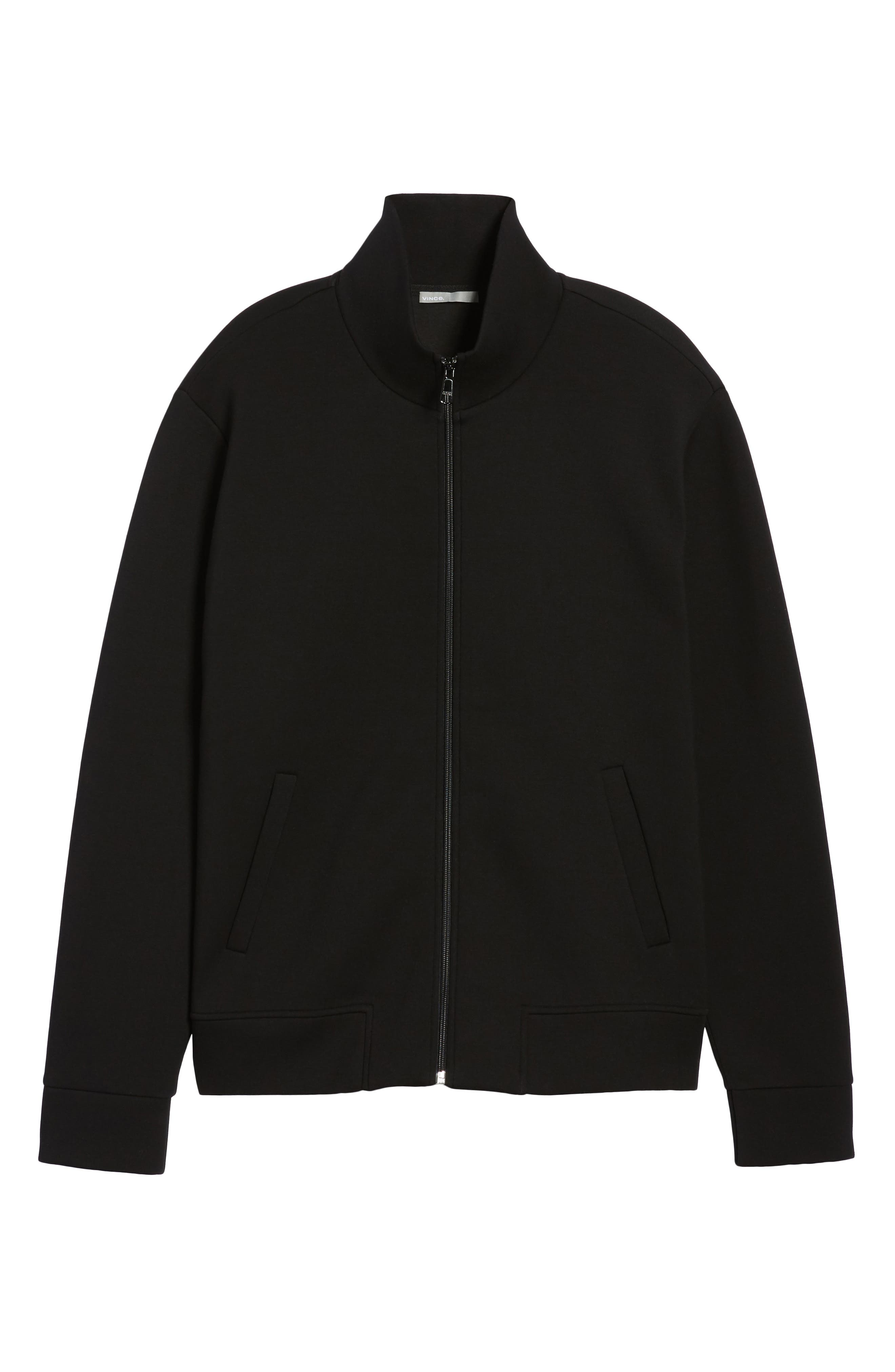 Slim Fit Tech Jacket,                             Alternate thumbnail 6, color,                             Black