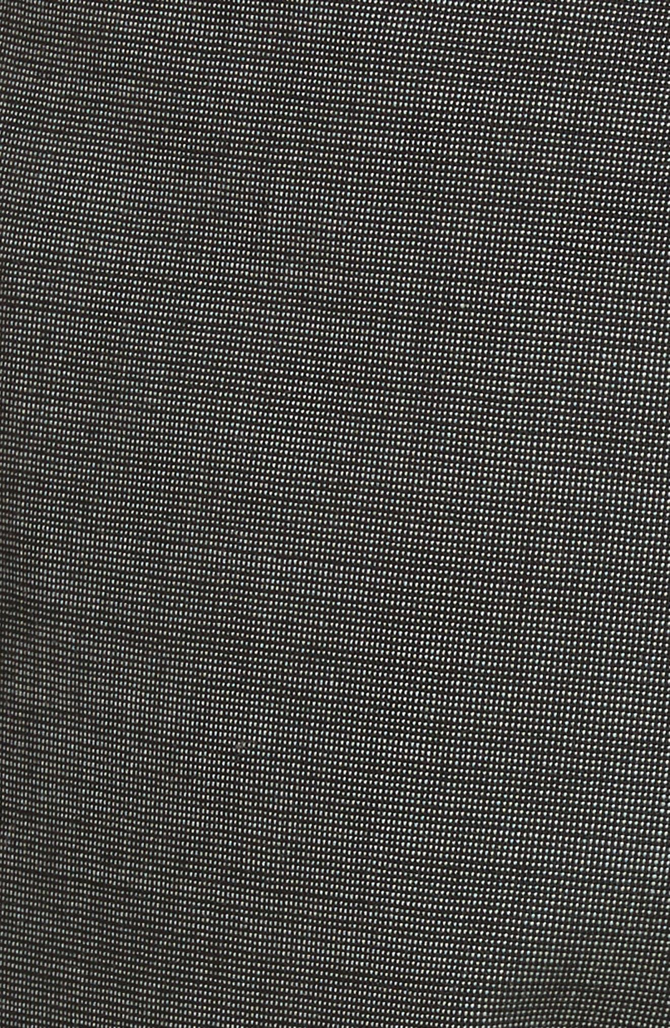 Contrast Trim Slim Leg Trousers,                             Alternate thumbnail 5, color,                             Grey