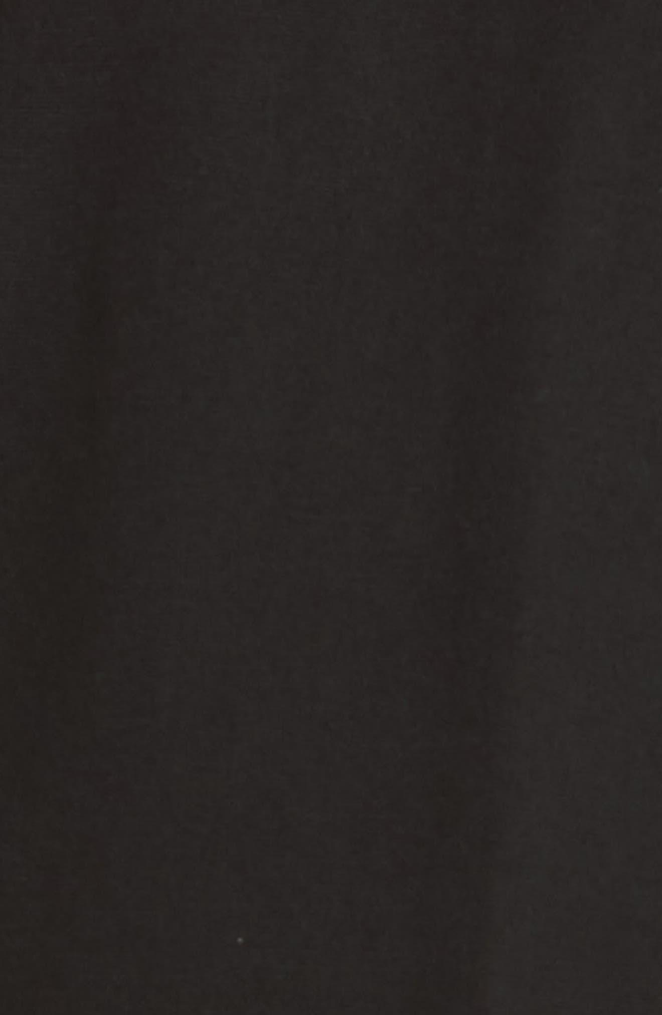 Ruffle Waist Crop Pants,                             Alternate thumbnail 5, color,                             Noir