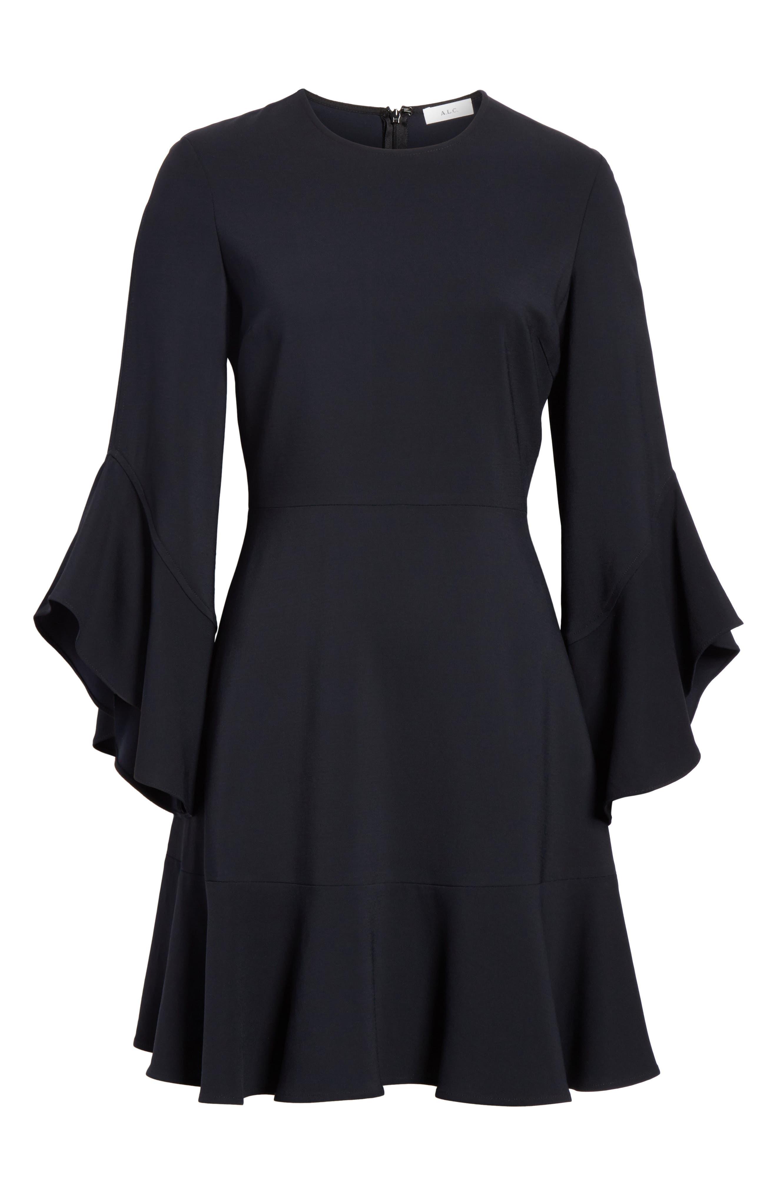 Cassidy Dress,                             Alternate thumbnail 6, color,                             Midnight
